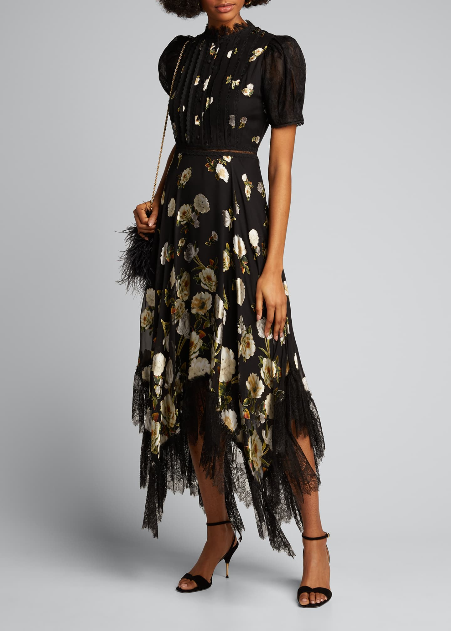 Image 1 of 5: Bettina Floral Handkerchief Dress