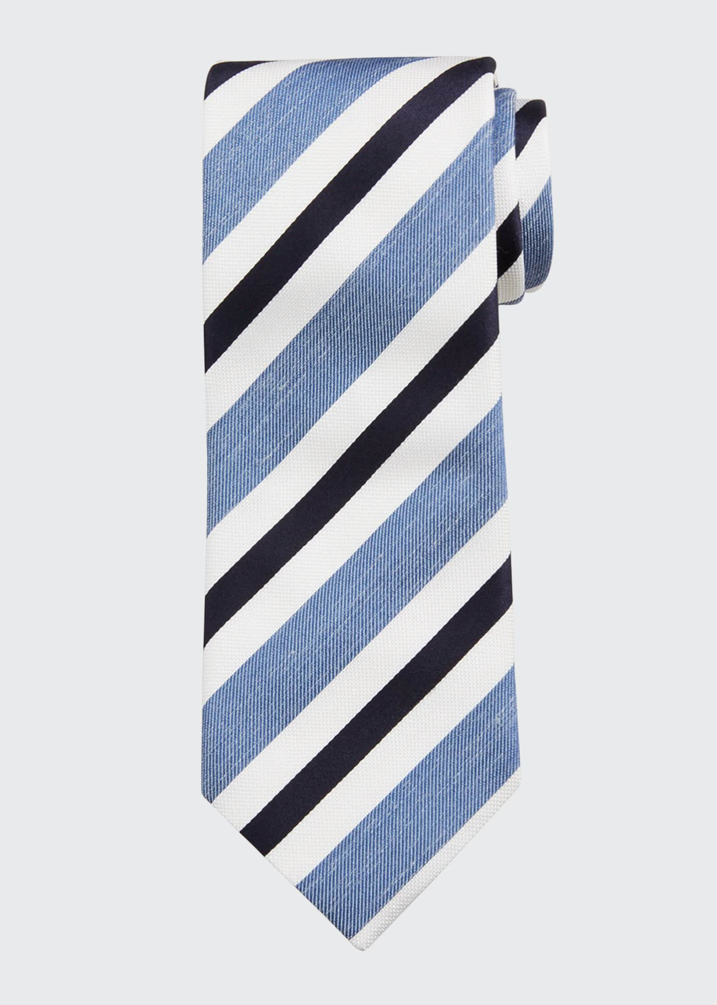 Image 1 of 1: Seasonal Striped Silk Tie