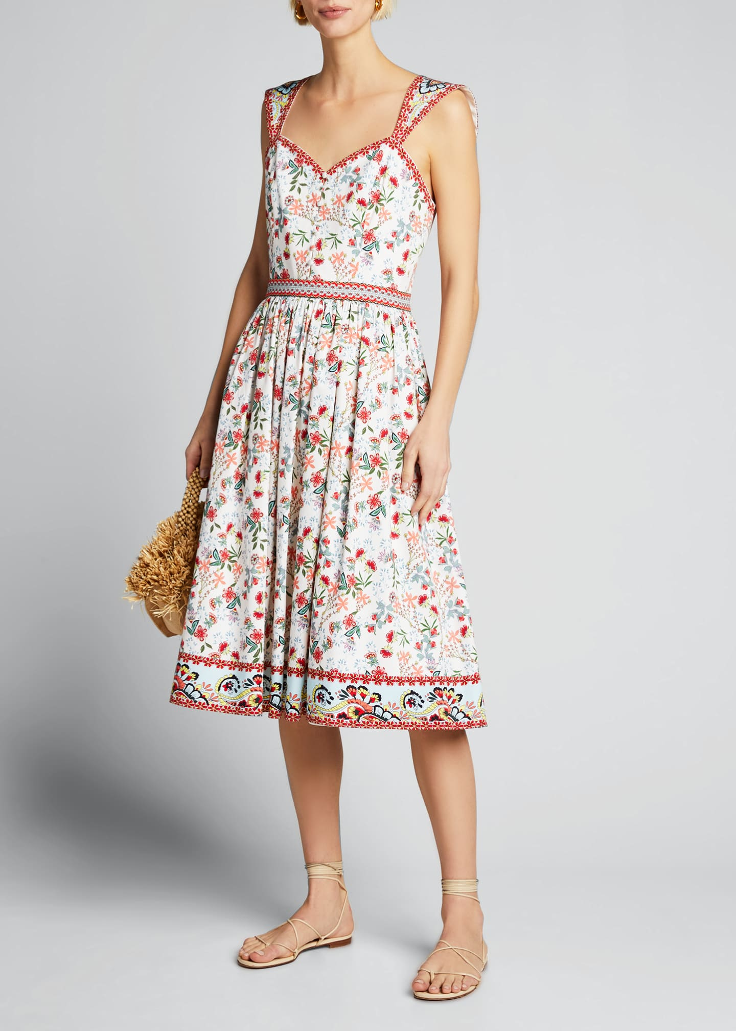 Image 1 of 5: Portia Sweetheart Gathered Dress