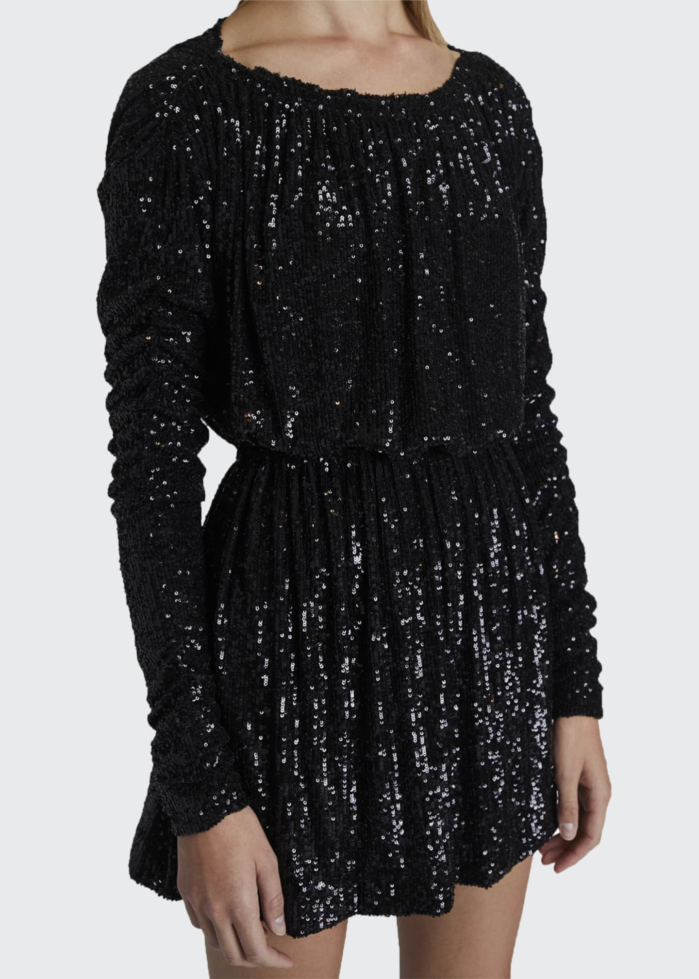 Image 4 of 4: Sequined Tie-Waist Cocktail Dress