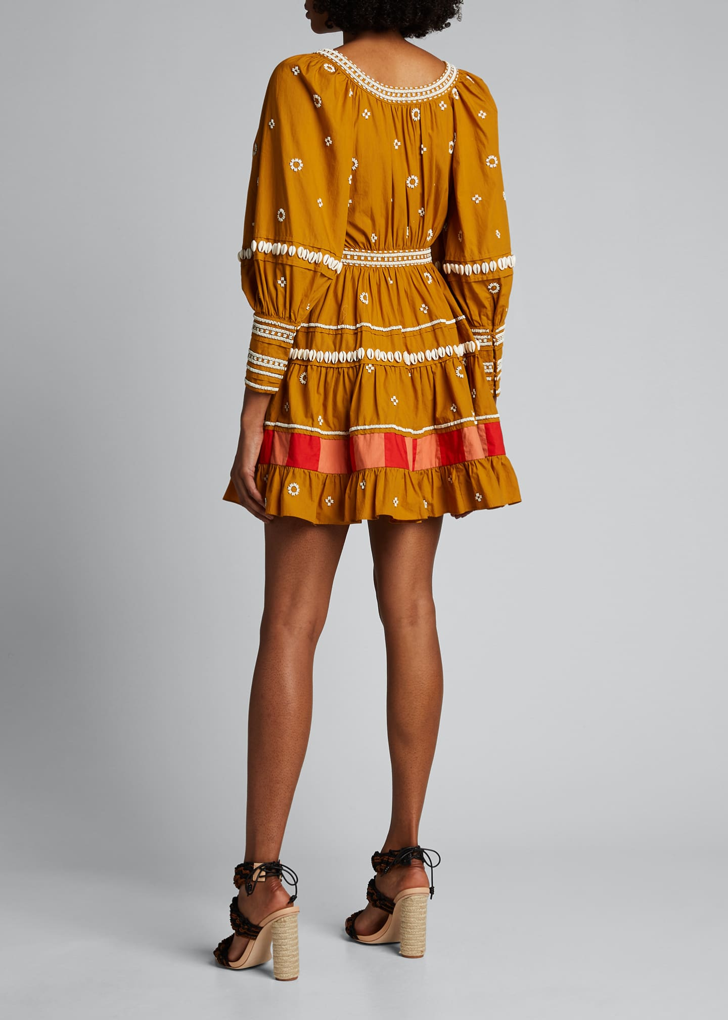 Image 2 of 5: Adama Embroidered Long-Sleeve Dress