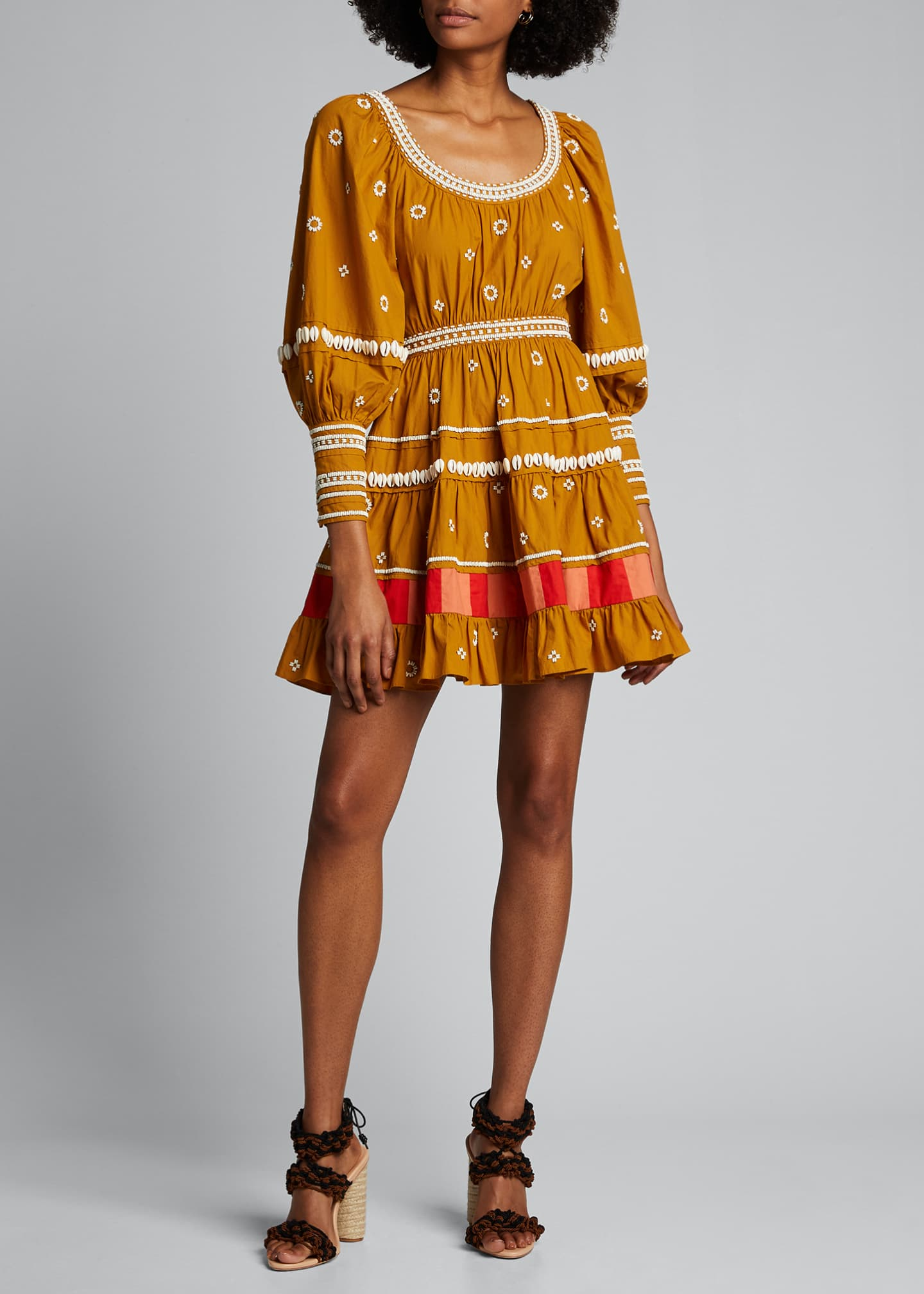 Image 3 of 5: Adama Embroidered Long-Sleeve Dress
