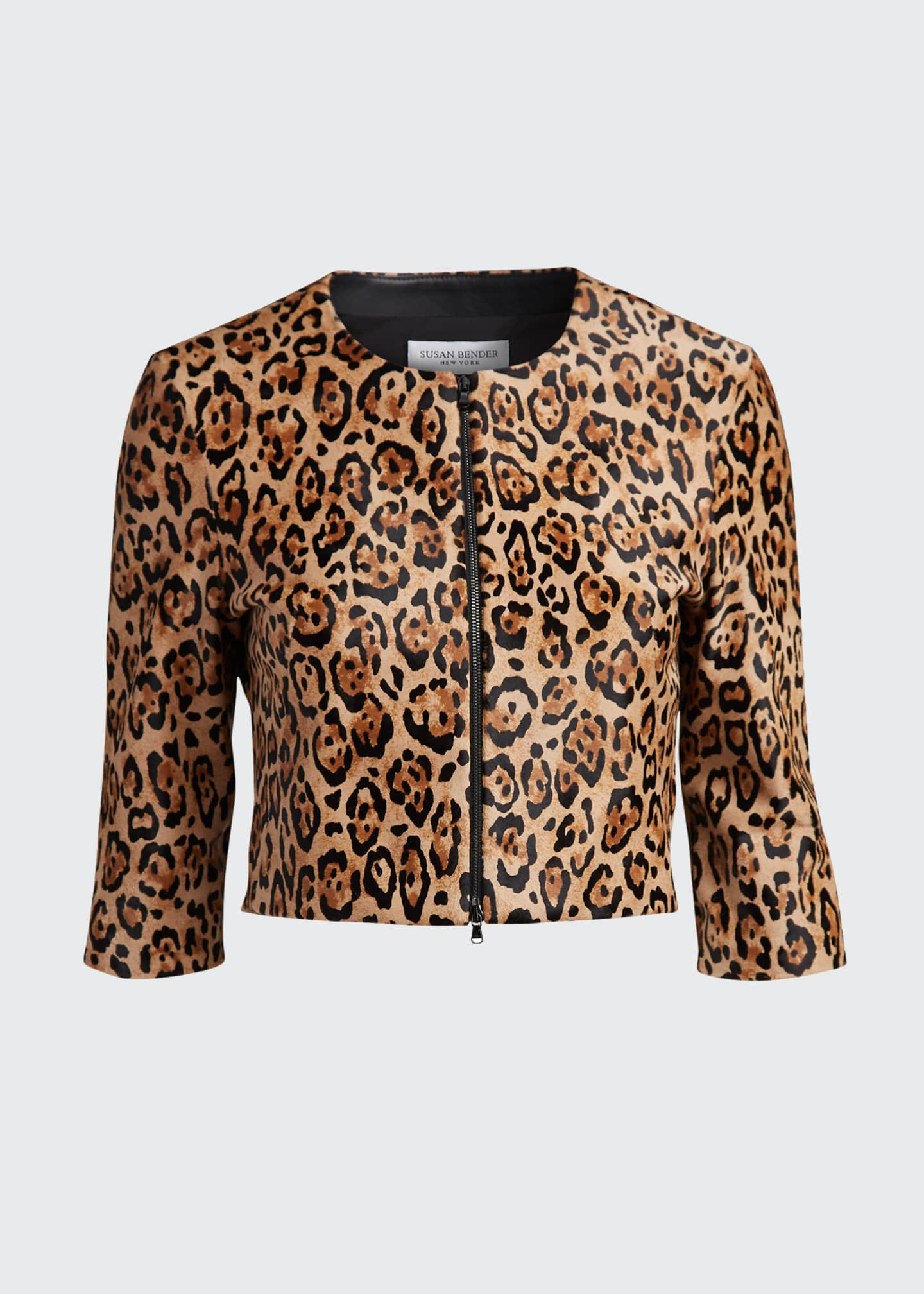 Image 5 of 5: Bengal Leopard Calf Hair Bolero Jacket