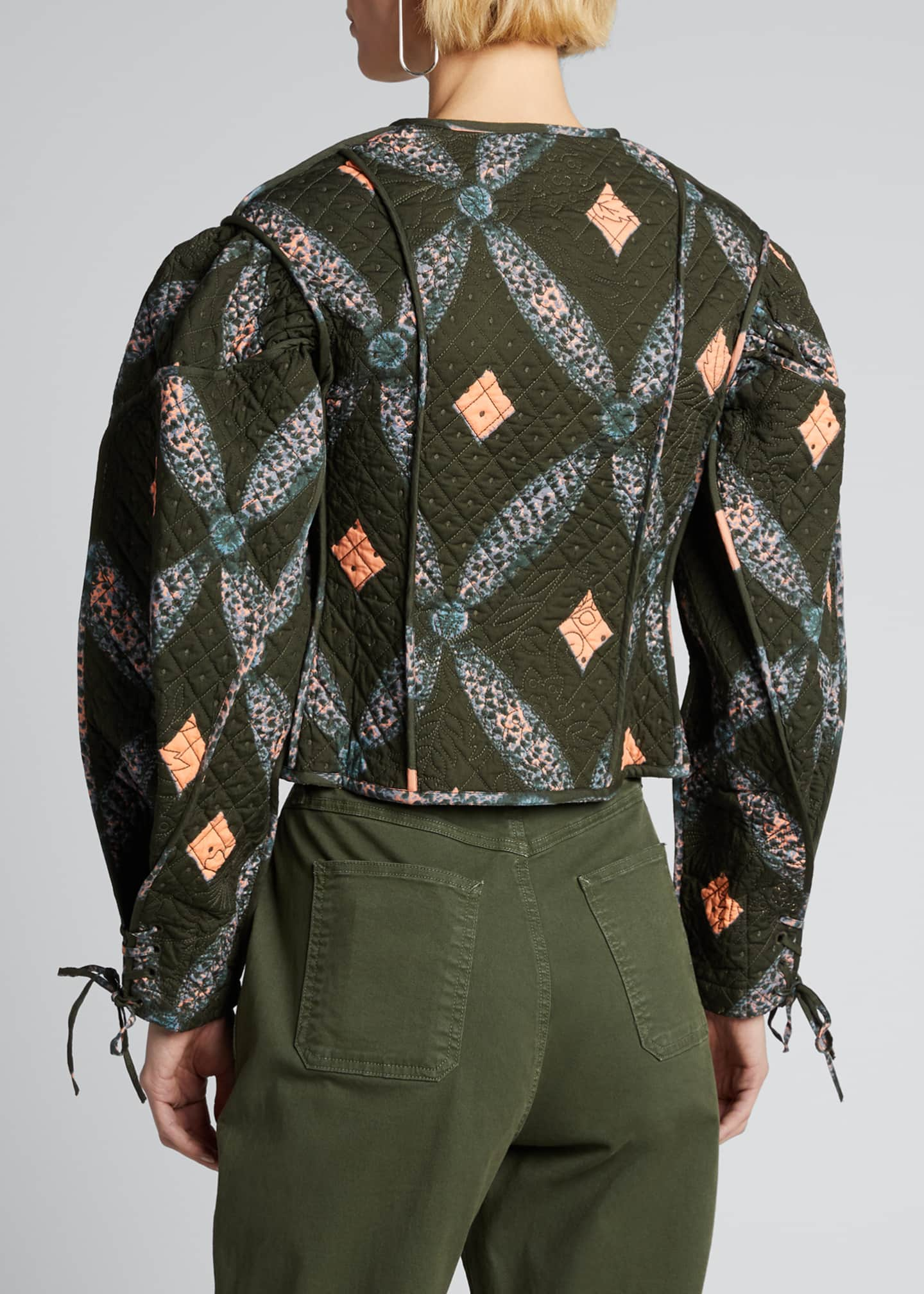 Image 2 of 5: Sabi Quilted Shibori Diamond-Print Jacket