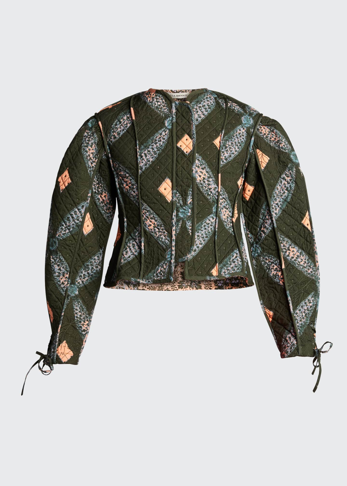 Image 5 of 5: Sabi Quilted Shibori Diamond-Print Jacket
