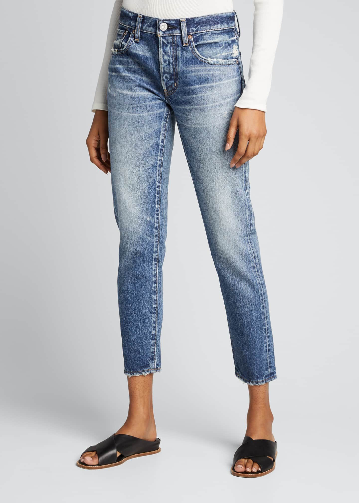 Image 3 of 5: Vienna Tapered Mid-Rise Jeans
