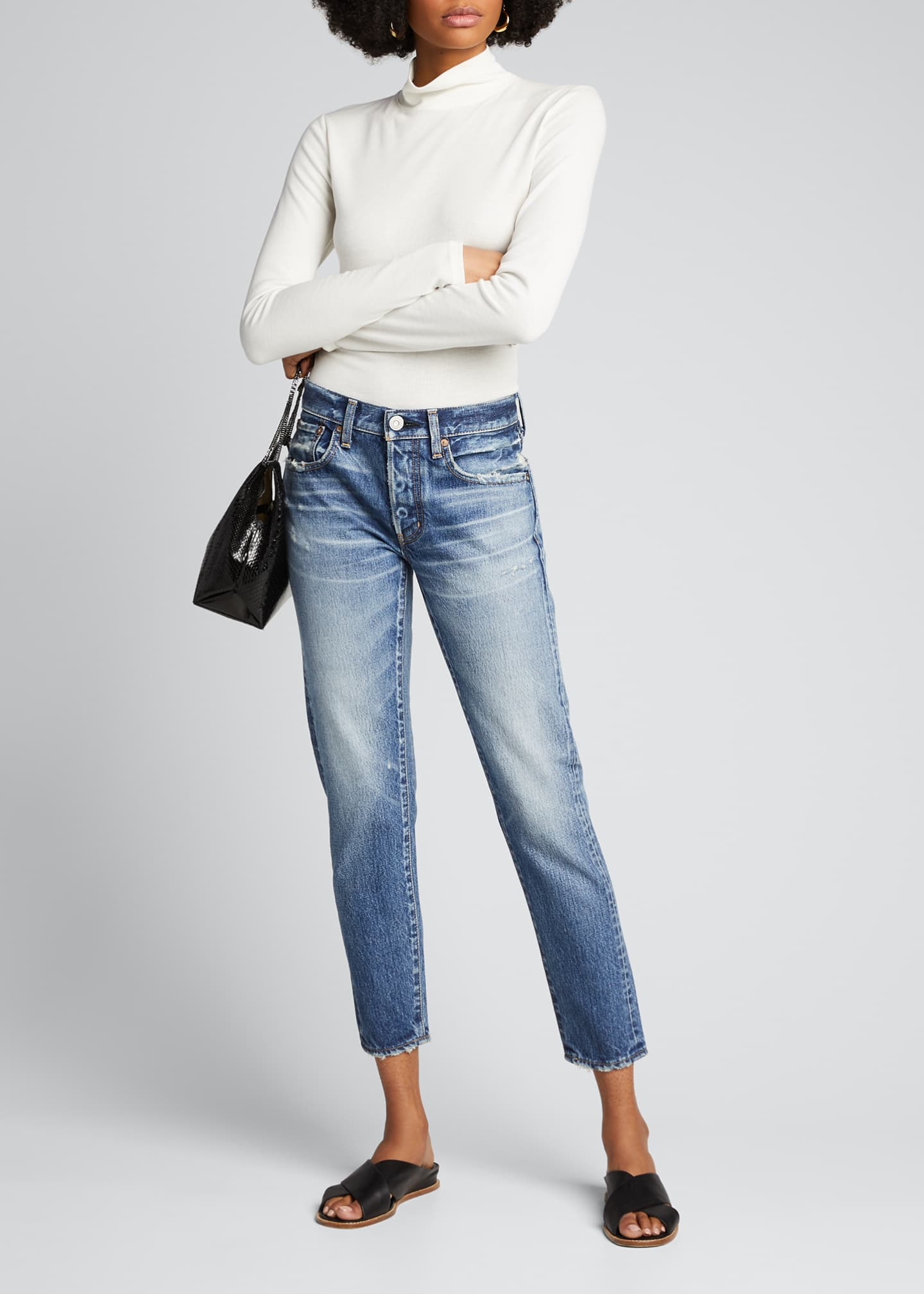 Image 1 of 5: Vienna Tapered Mid-Rise Jeans
