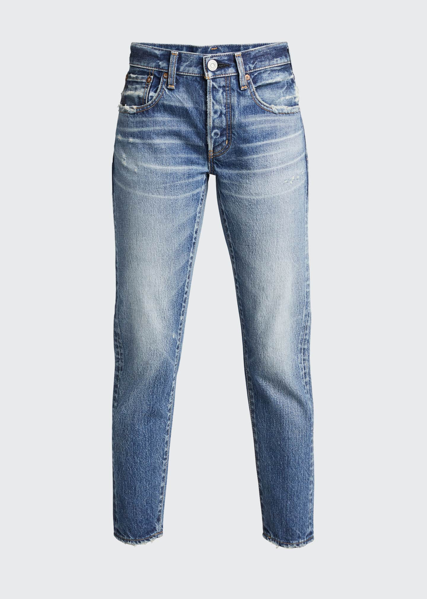 Image 5 of 5: Vienna Tapered Mid-Rise Jeans