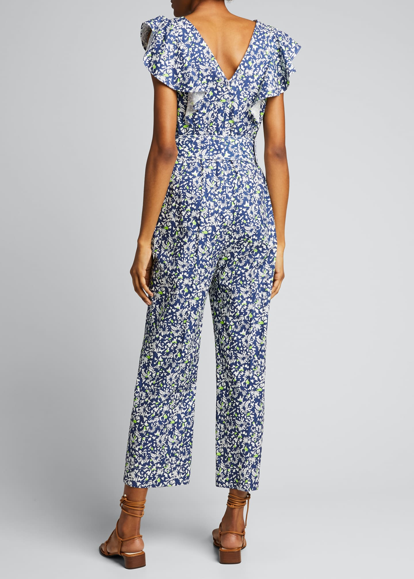 Image 2 of 5: Avalon Floral-Print Belted Jumpsuit
