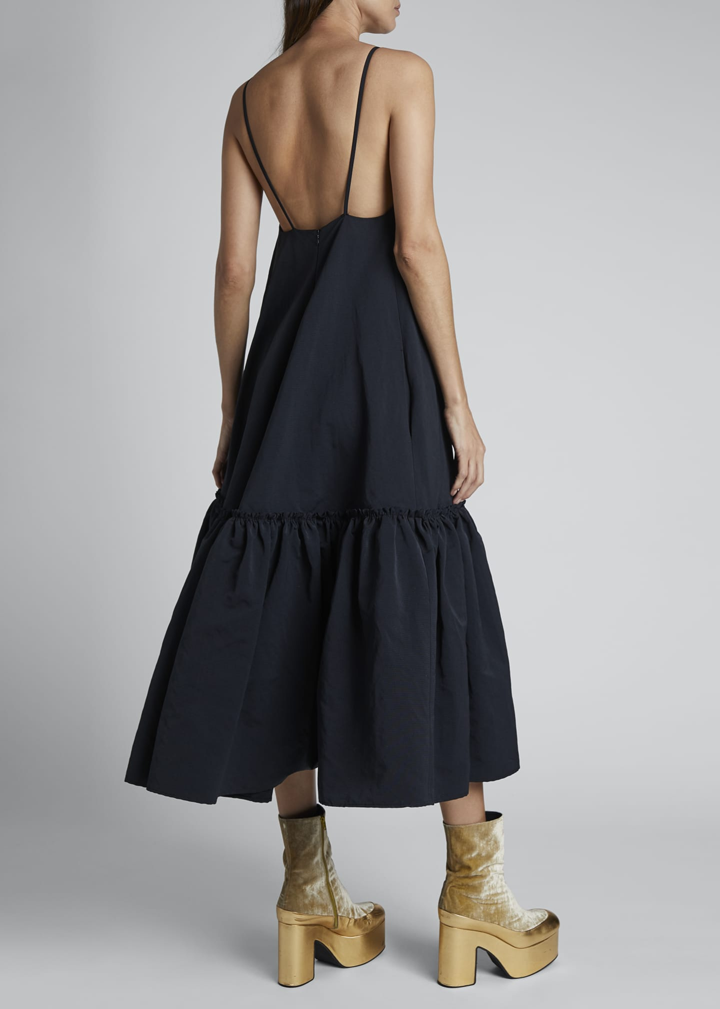 Image 2 of 3: Diba Ruffle-Hem Midi Slip Dress
