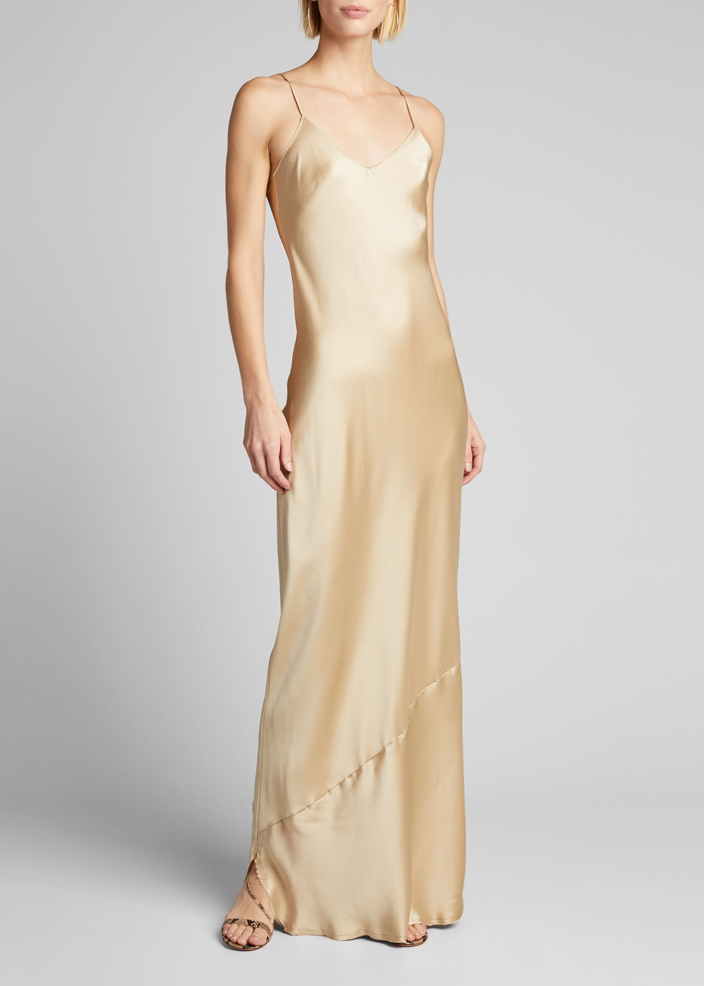 Image 3 of 5: Cami Silk Bias-Cut Gown