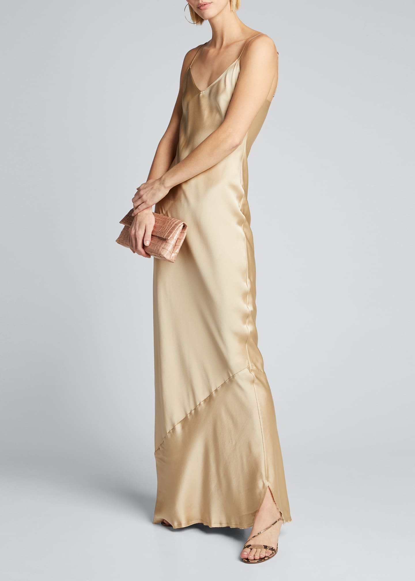 Image 1 of 5: Cami Silk Bias-Cut Gown