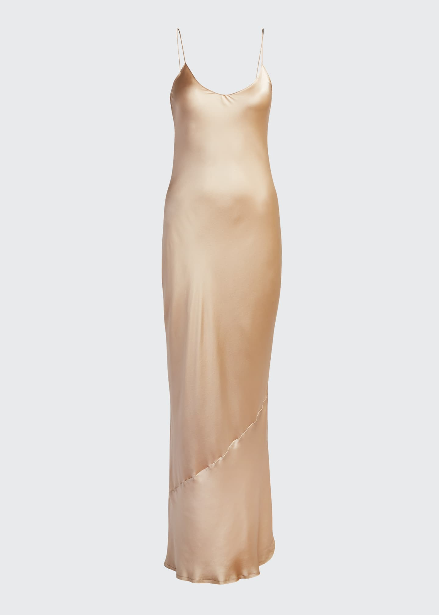 Image 5 of 5: Cami Silk Bias-Cut Gown
