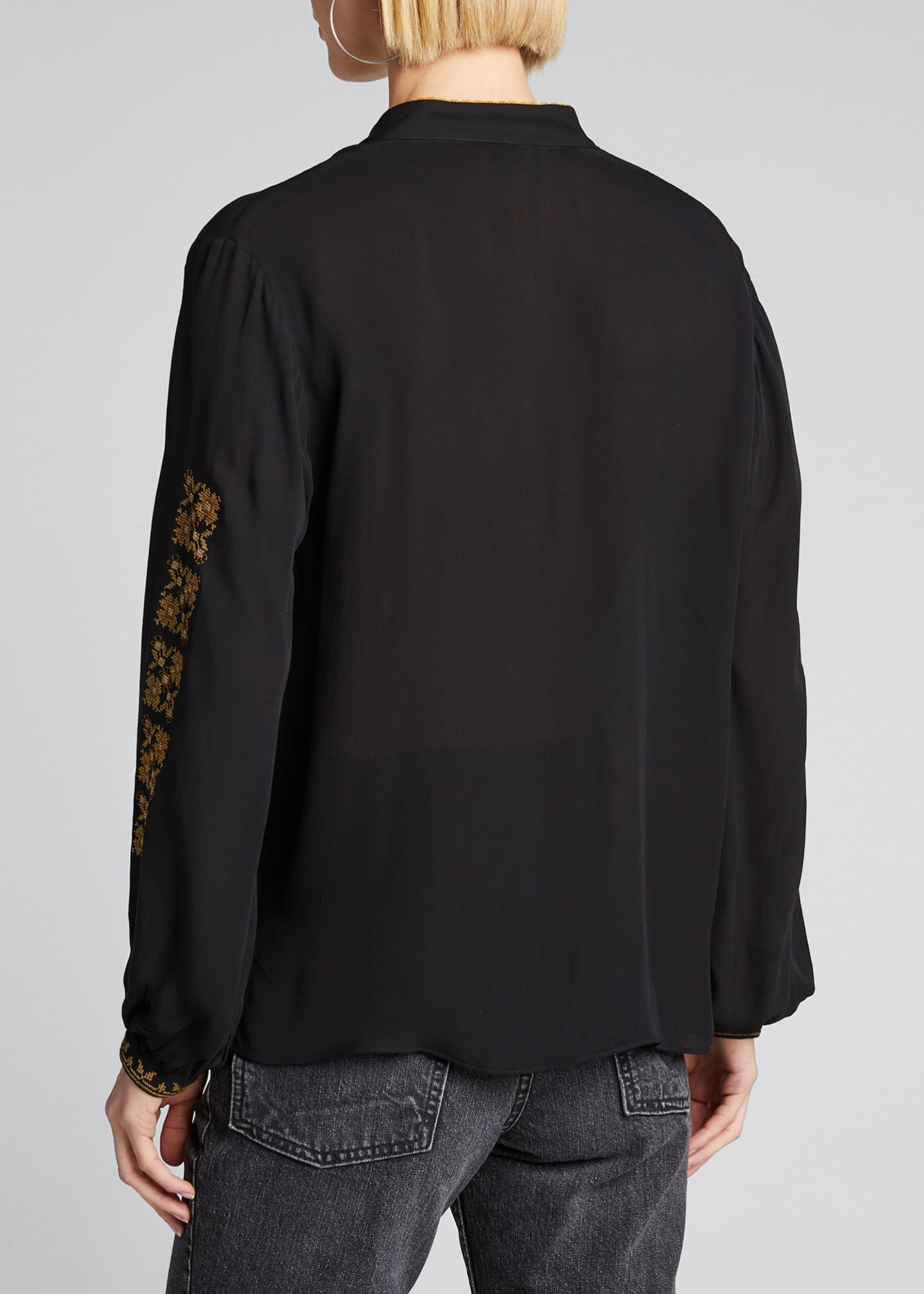 Image 2 of 5: Karina Palestinian Embroidered Top