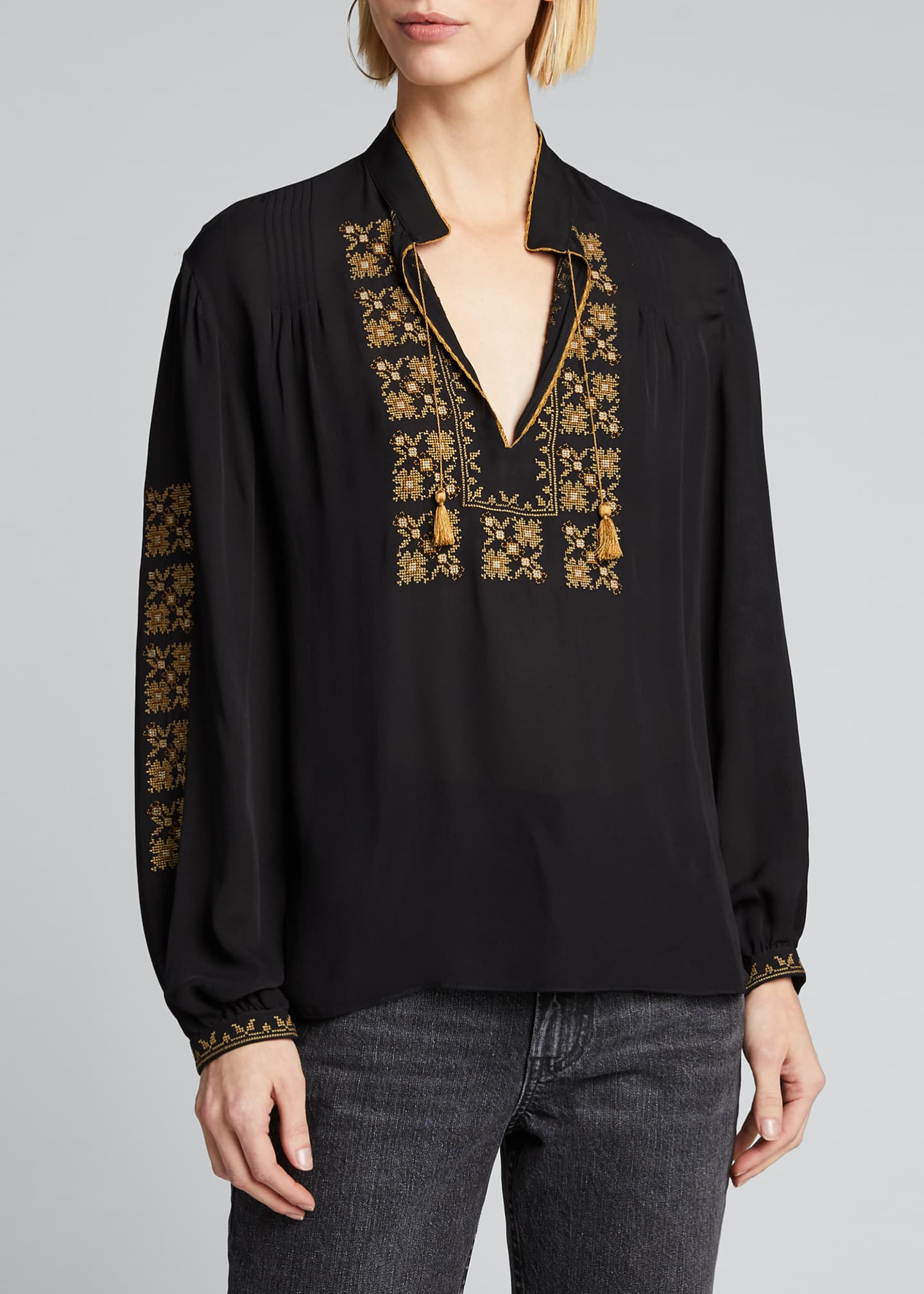 Image 3 of 5: Karina Palestinian Embroidered Top