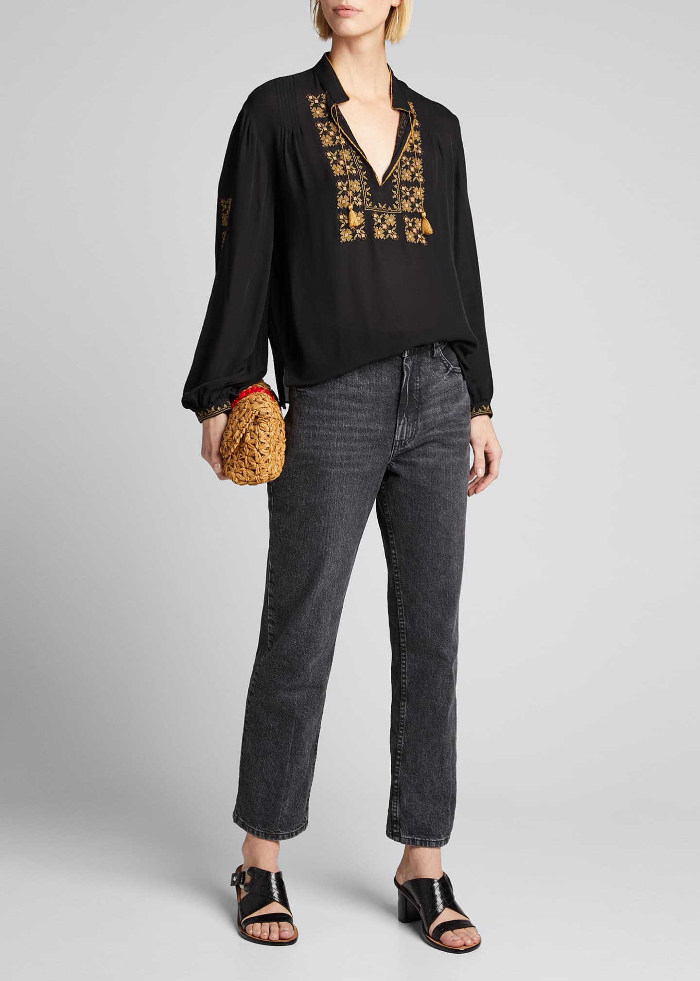Image 1 of 5: Karina Palestinian Embroidered Top
