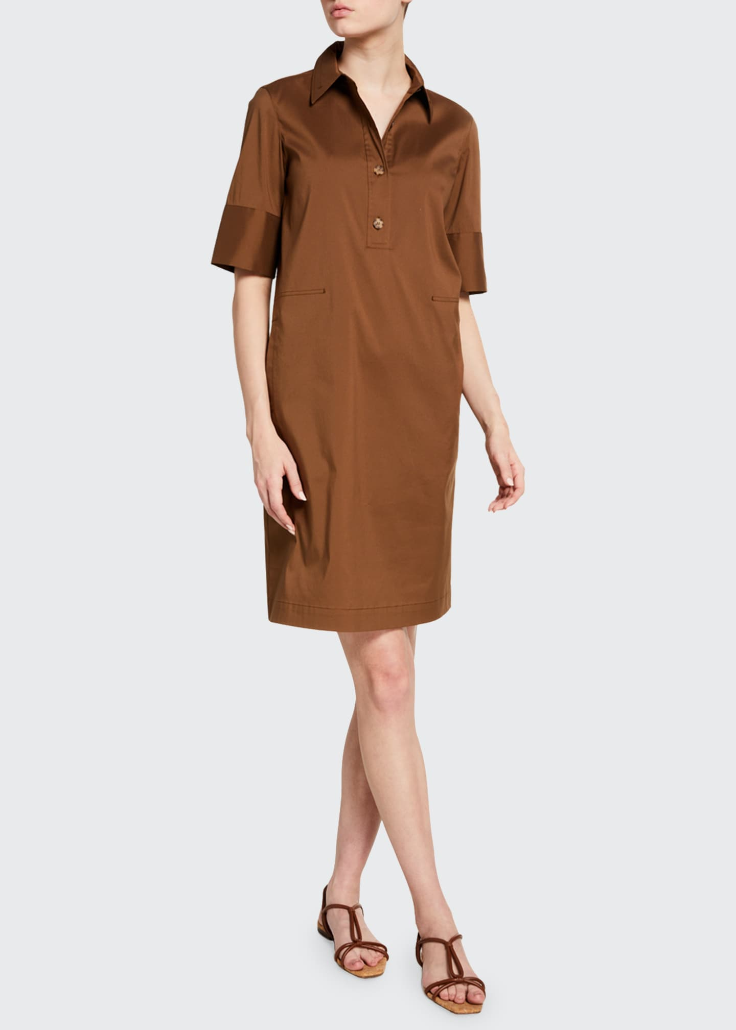 Image 3 of 3: Conroy Classic Stretch Cotton Dress