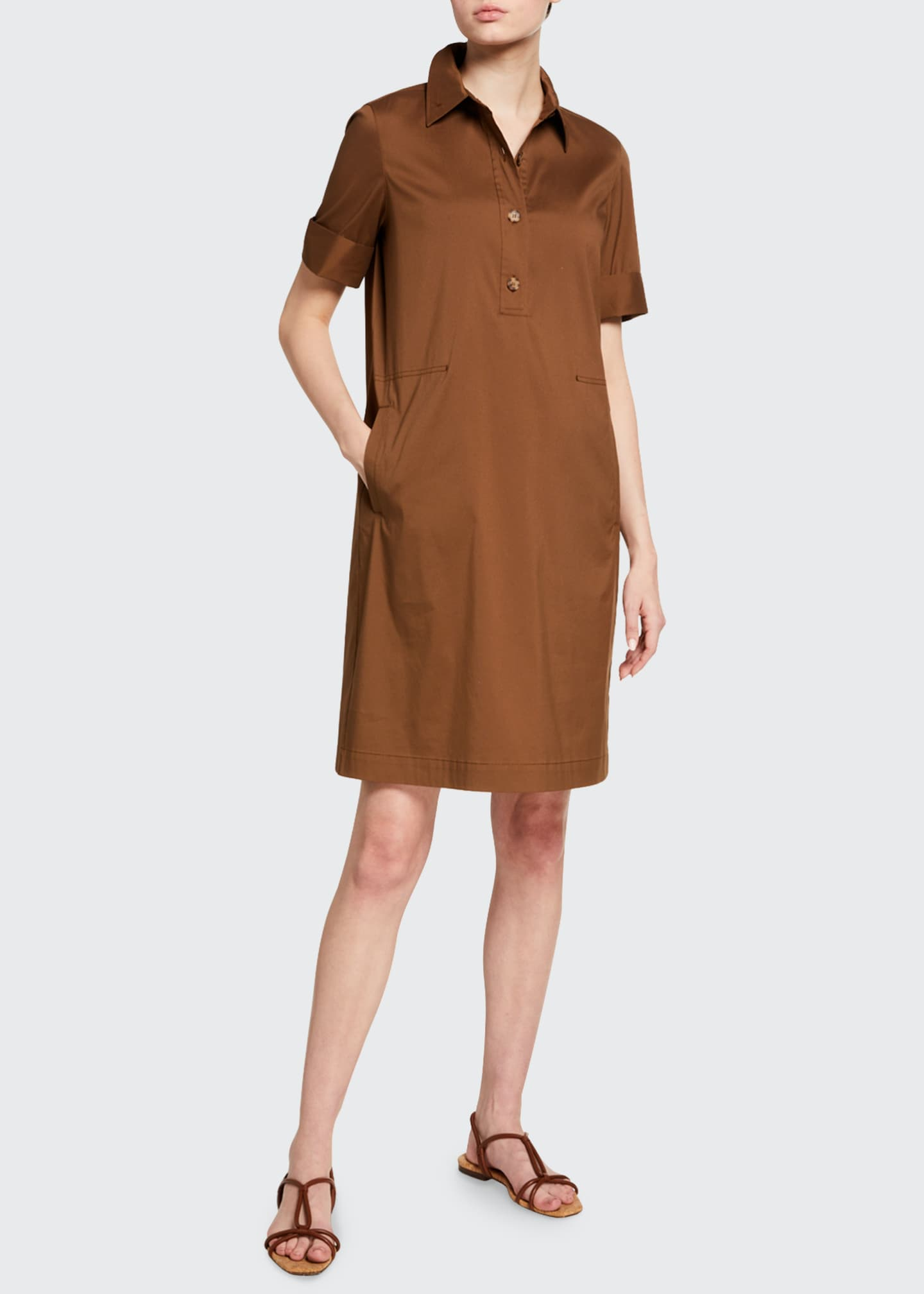 Image 1 of 3: Conroy Classic Stretch Cotton Dress