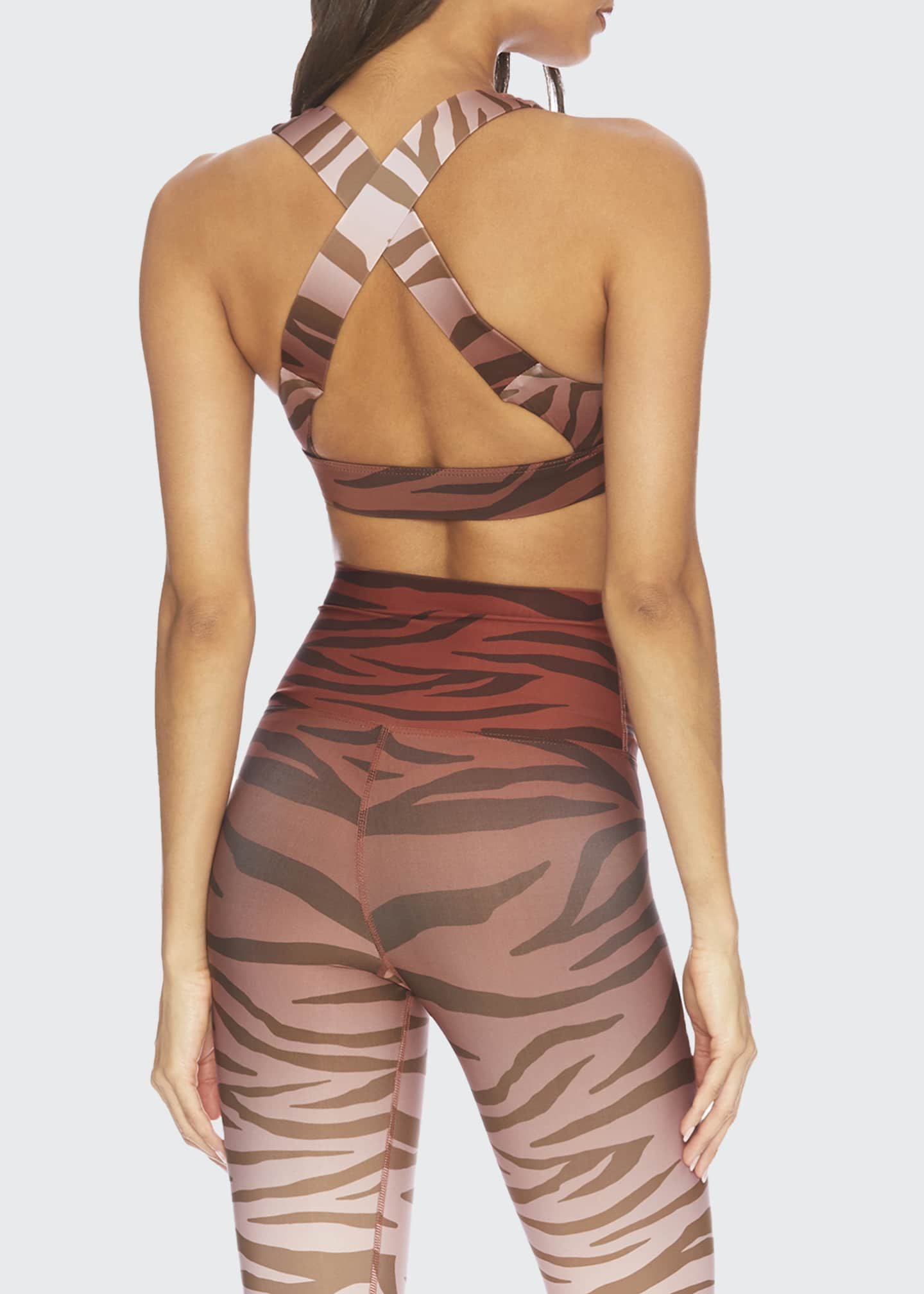 Image 2 of 3: Kelly Animal-Print Active Top
