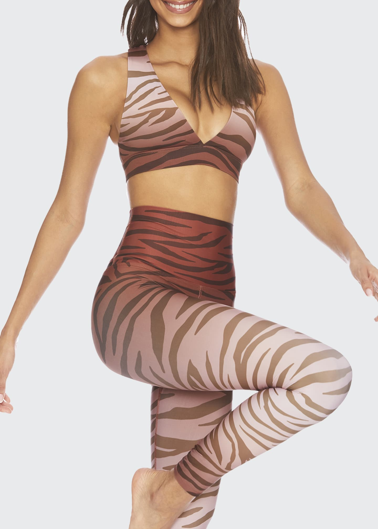 Image 3 of 3: Kelly Animal-Print Active Top