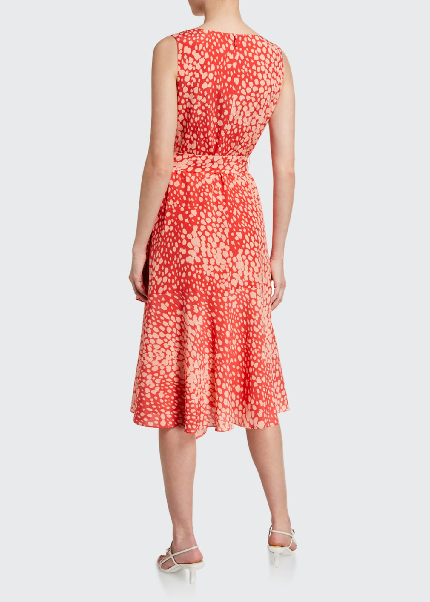Image 2 of 2: Telson Speckle Print Sleeveless Silk Dress