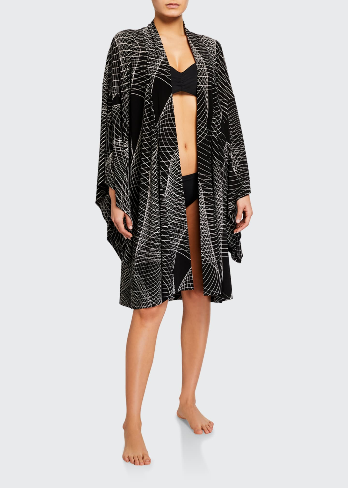 Image 1 of 3: Printed Coverup Robe