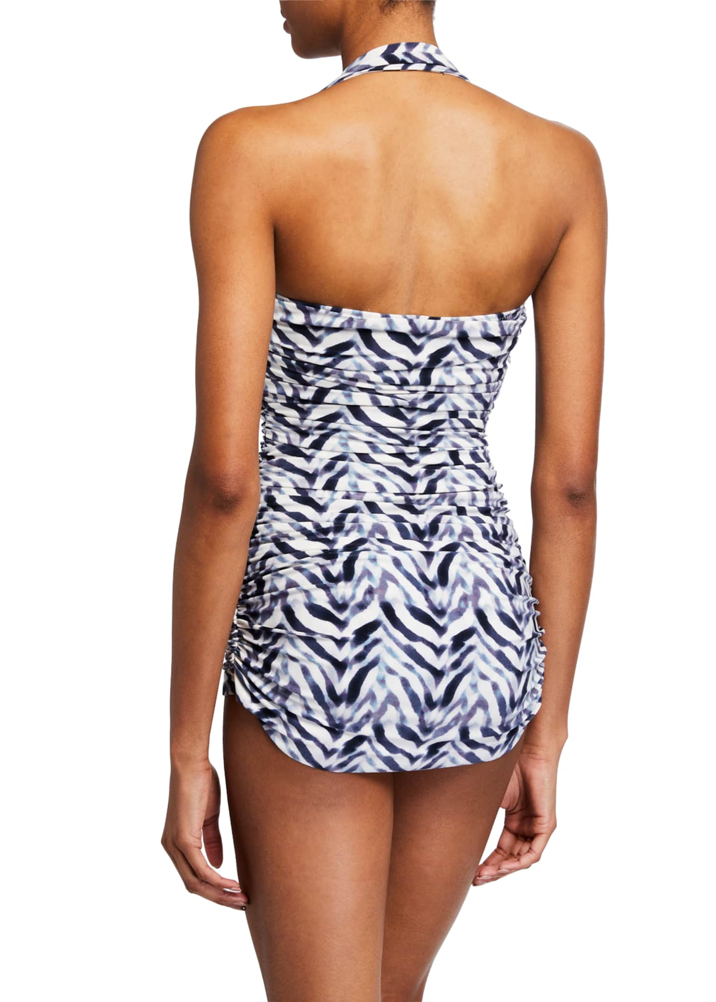 Image 2 of 2: Bill Mio Ruched Halter One-Piece Swimsuit