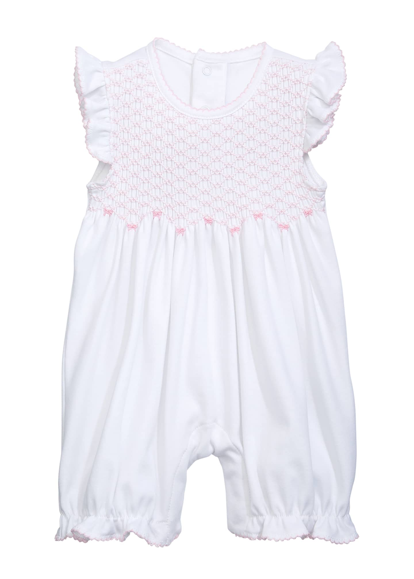 Image 1 of 1: CLB Summer Bows Smocked Playsuit, Size 0-9 Months