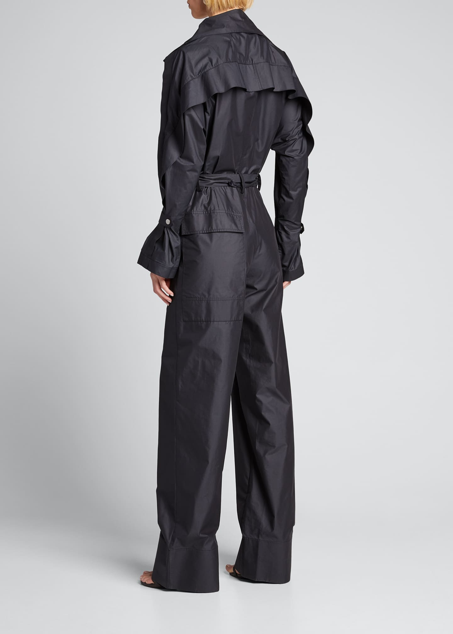 Image 2 of 5: Long-Sleeve Utility Jumpsuit