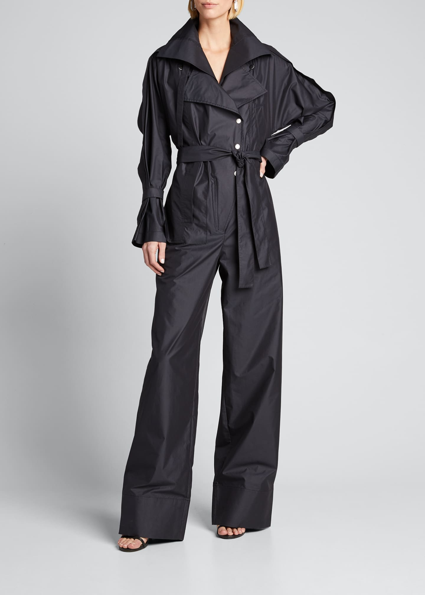 Image 3 of 5: Long-Sleeve Utility Jumpsuit