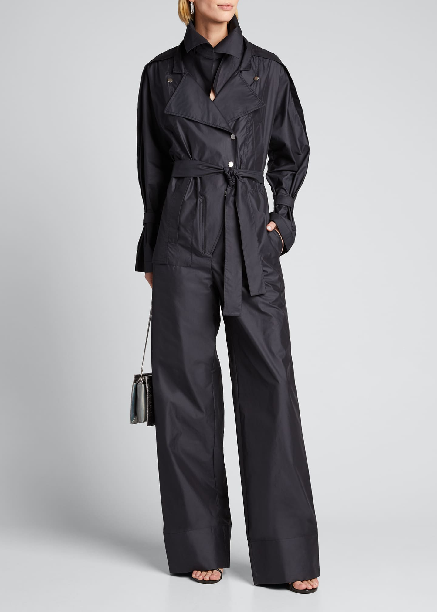 Image 1 of 5: Long-Sleeve Utility Jumpsuit