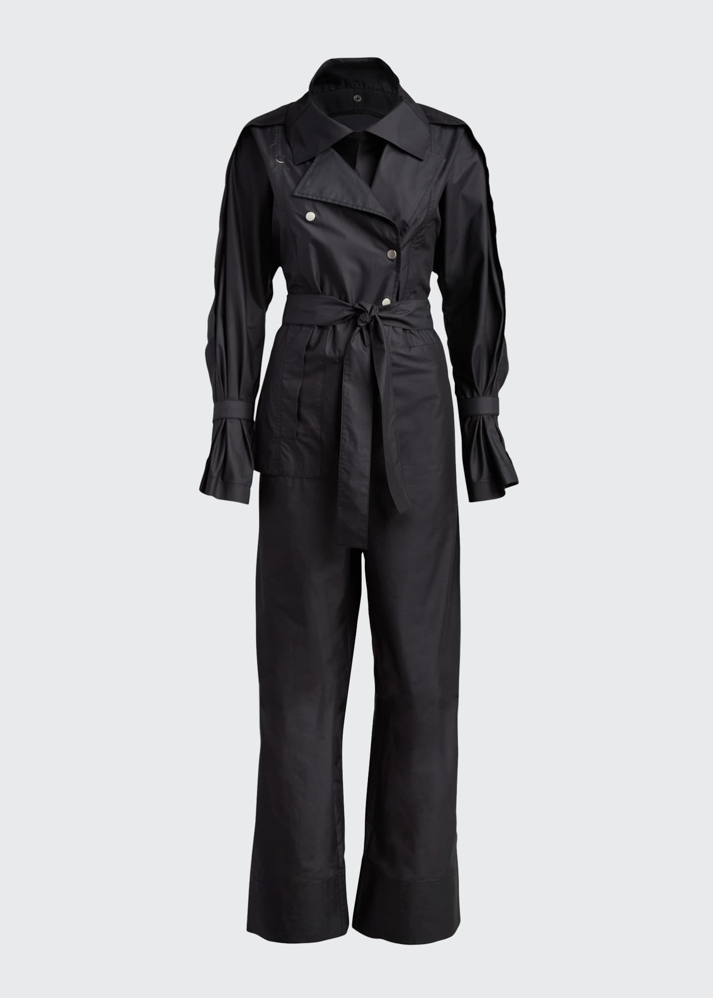 Image 5 of 5: Long-Sleeve Utility Jumpsuit