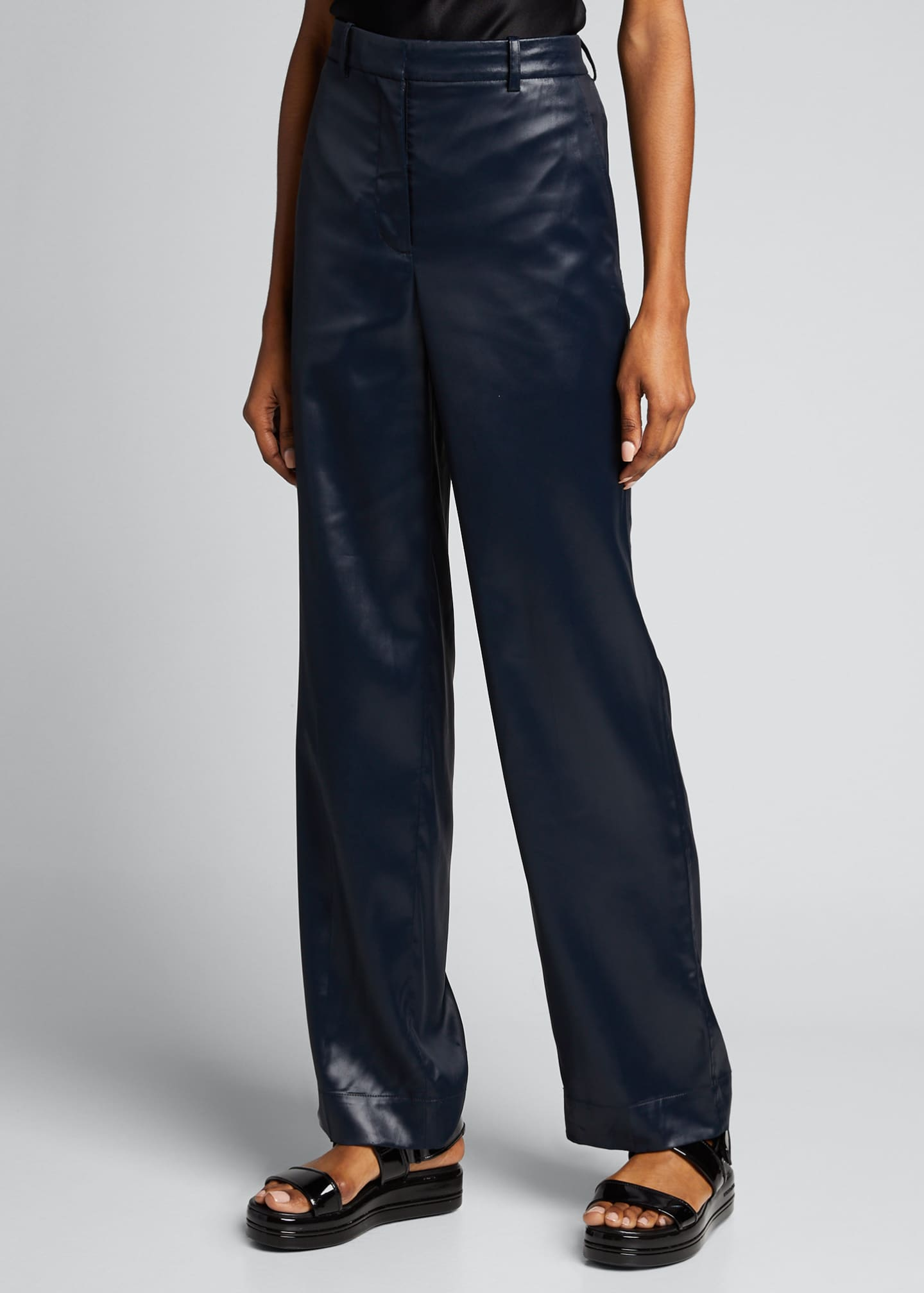 Image 3 of 5: Sleek Full-Leg Trousers