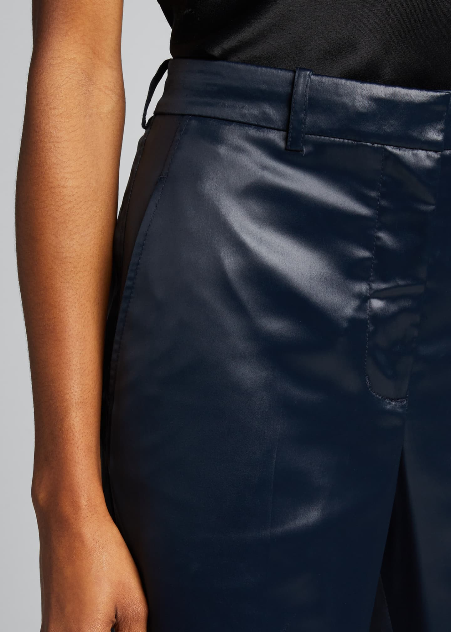 Image 4 of 5: Sleek Full-Leg Trousers