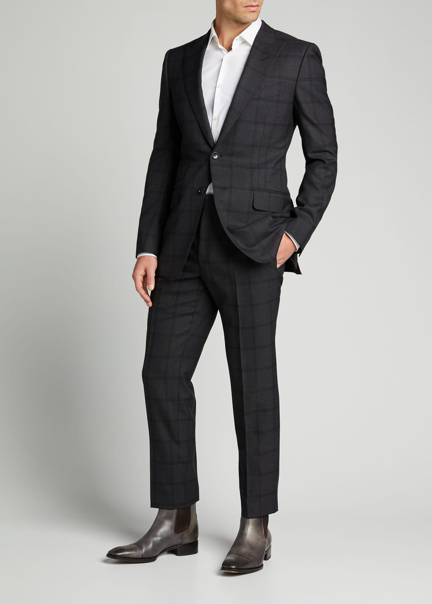 TOM FORD Men's O'Connor Overcheck Two-Piece Suit