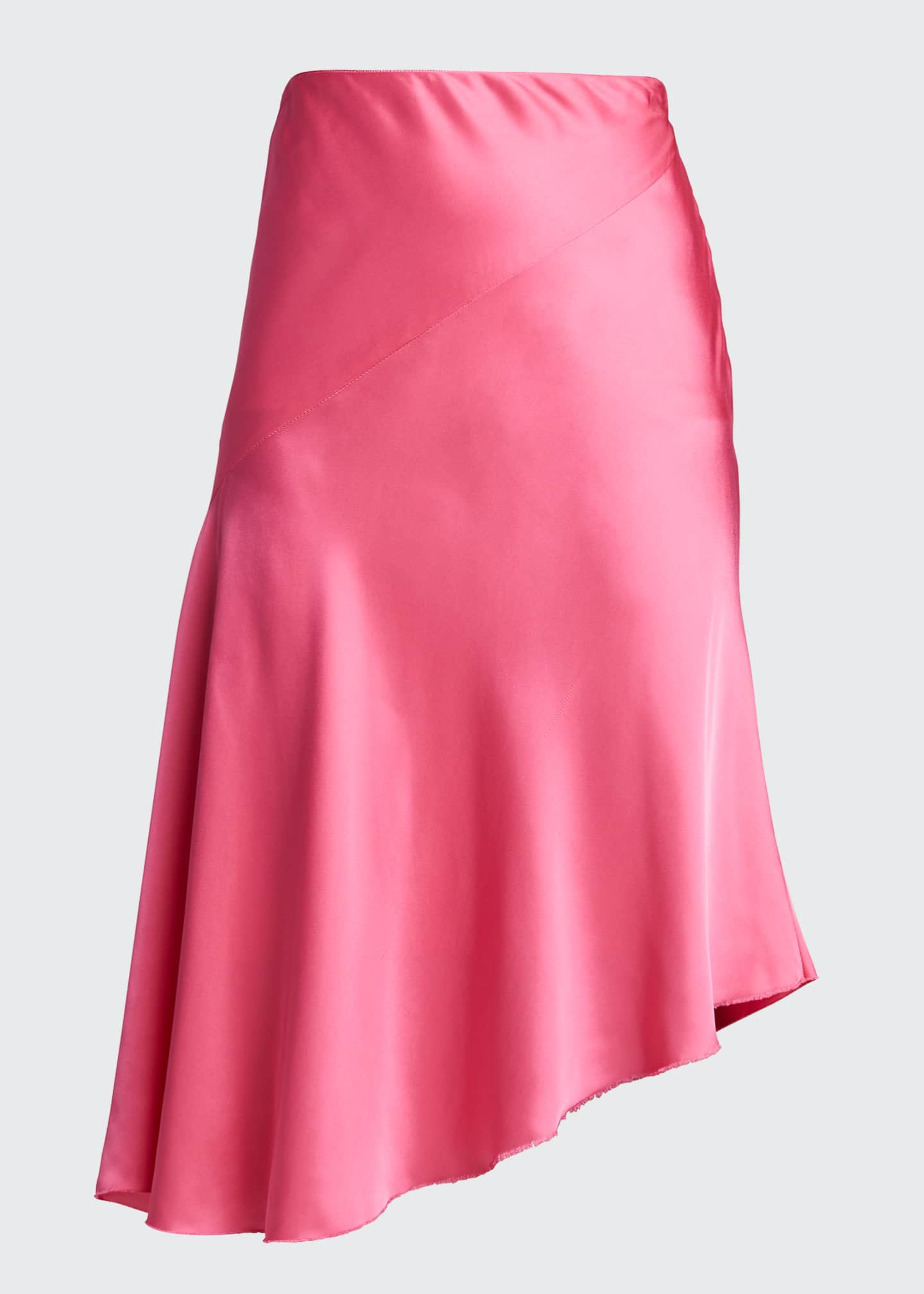 Image 5 of 5: Asymmetric Satin Skirt