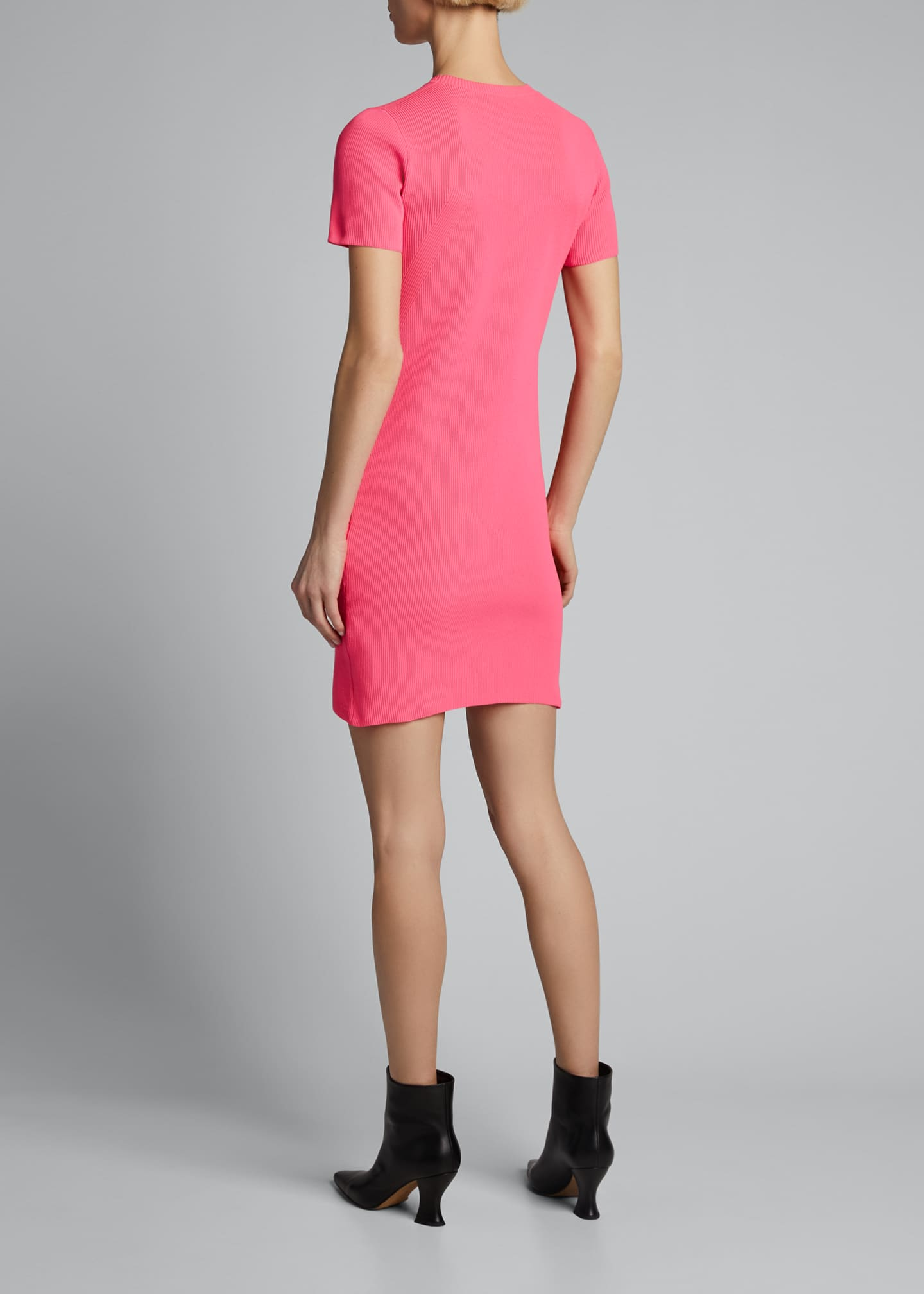 Image 2 of 5: Ribbed Neon Mini Dress