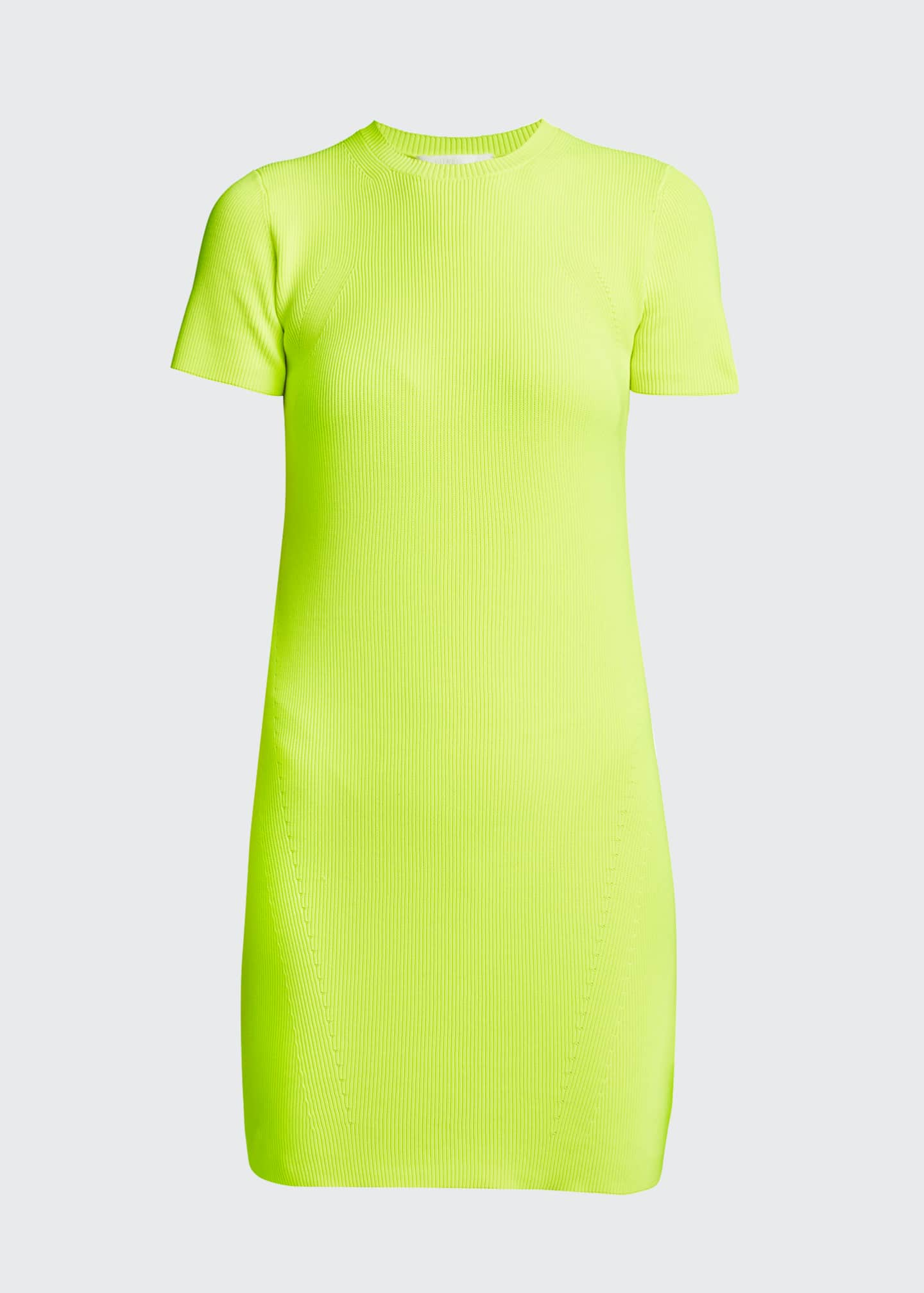Image 5 of 5: Ribbed Neon Mini Dress