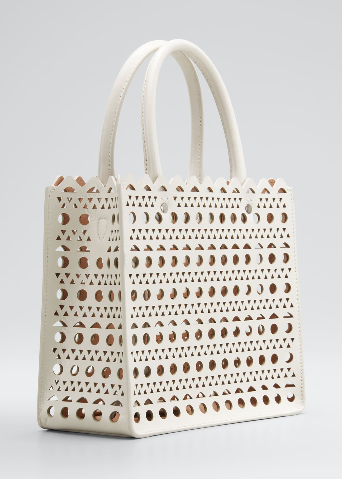 Image 3 of 5: Garance Small Laser-Cut Box Tote Bag
