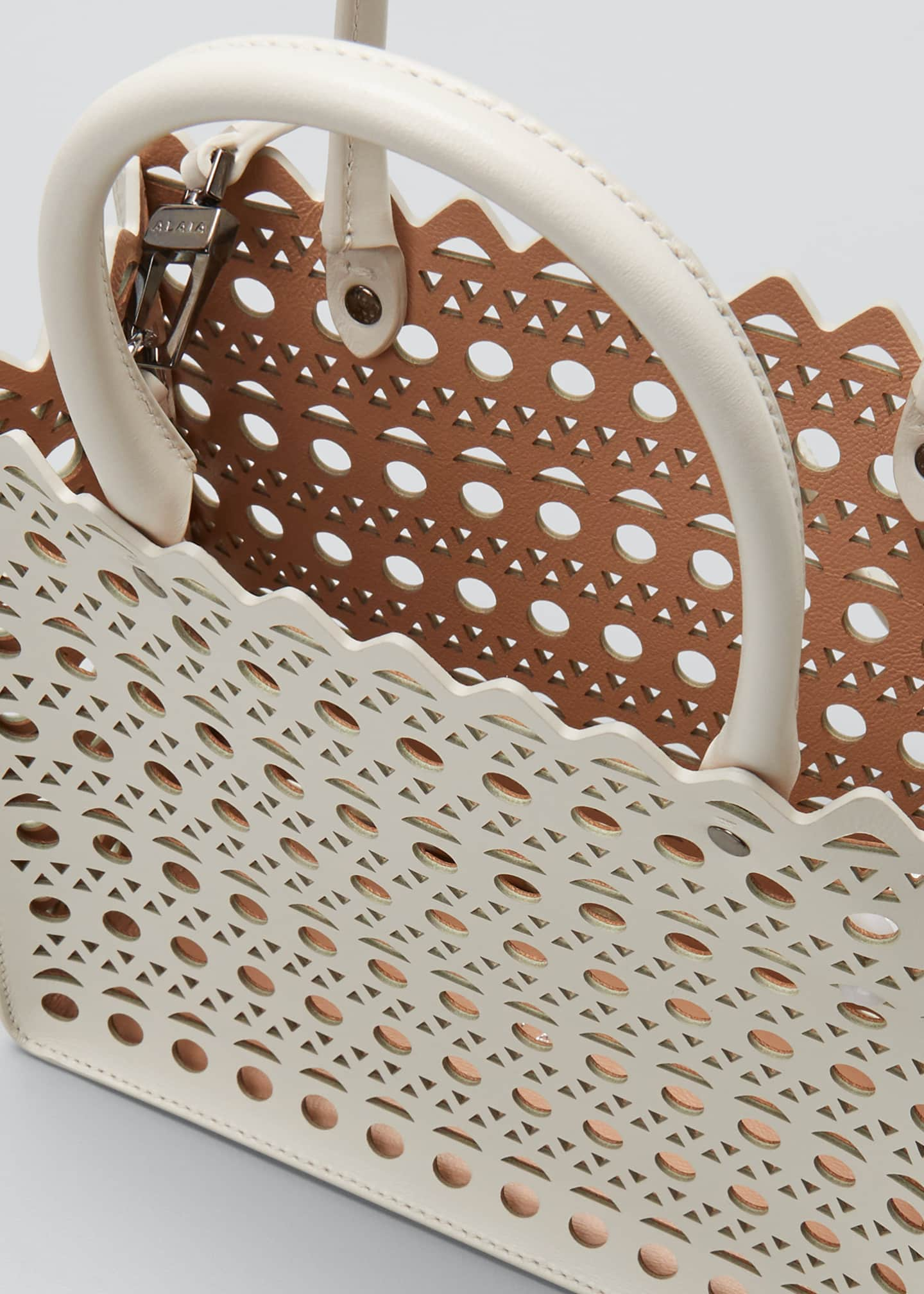 Image 4 of 5: Garance Small Laser-Cut Box Tote Bag