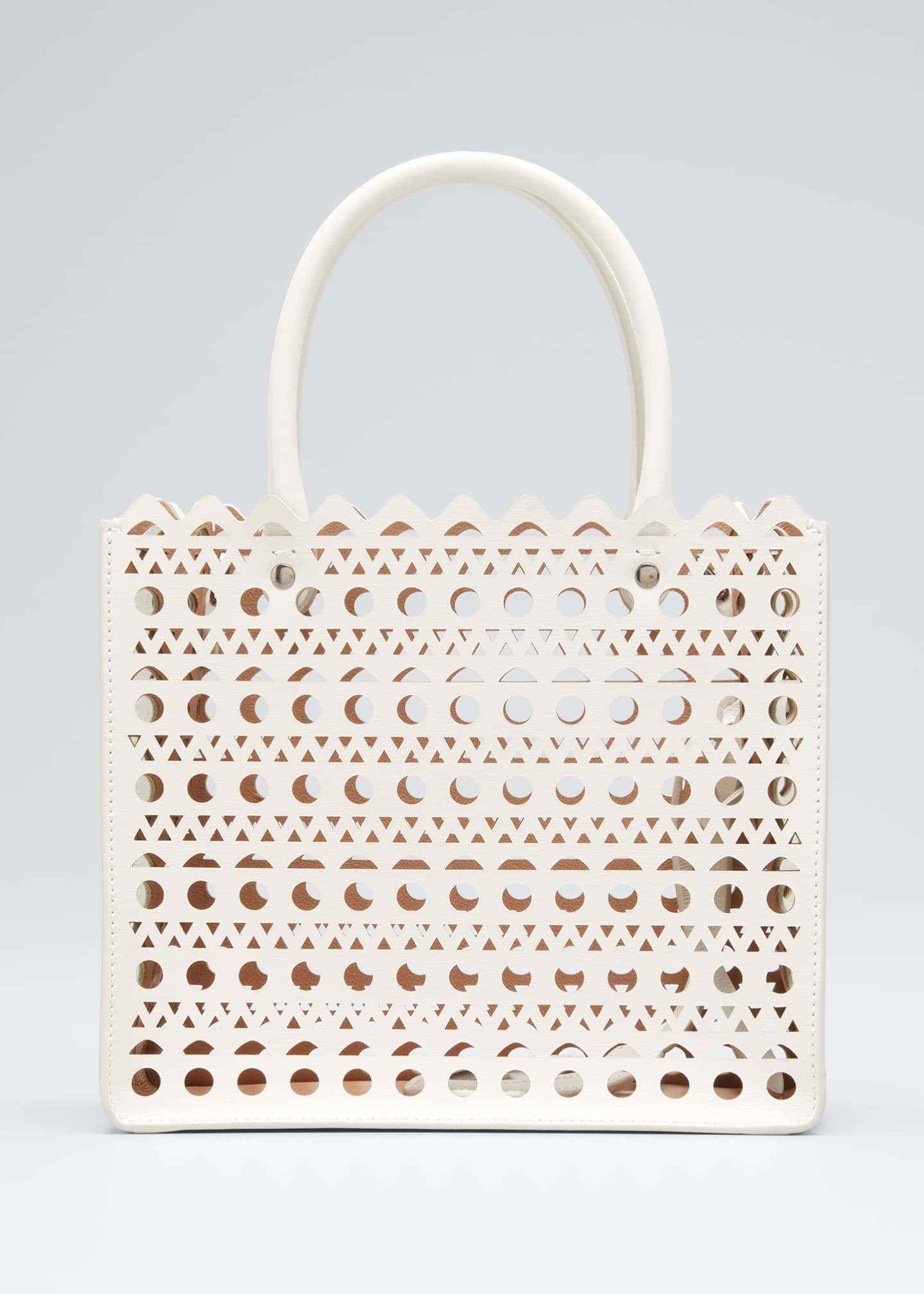 Image 1 of 5: Garance Small Laser-Cut Box Tote Bag