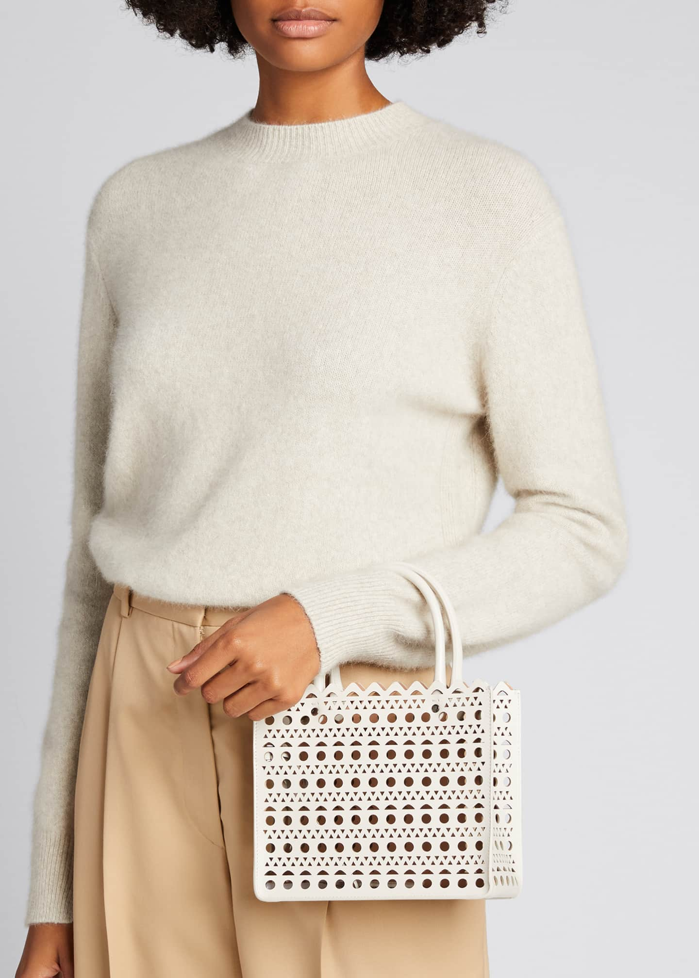 Image 2 of 5: Garance Small Laser-Cut Box Tote Bag