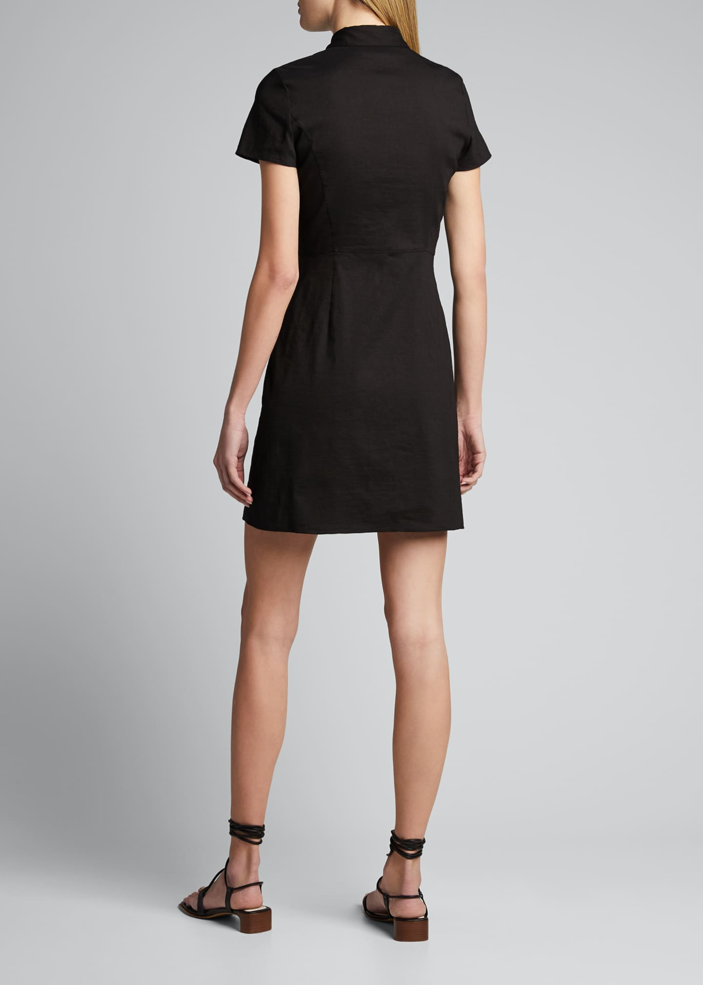 Image 2 of 5: Button-Down Short-Sleeve Shirtdress