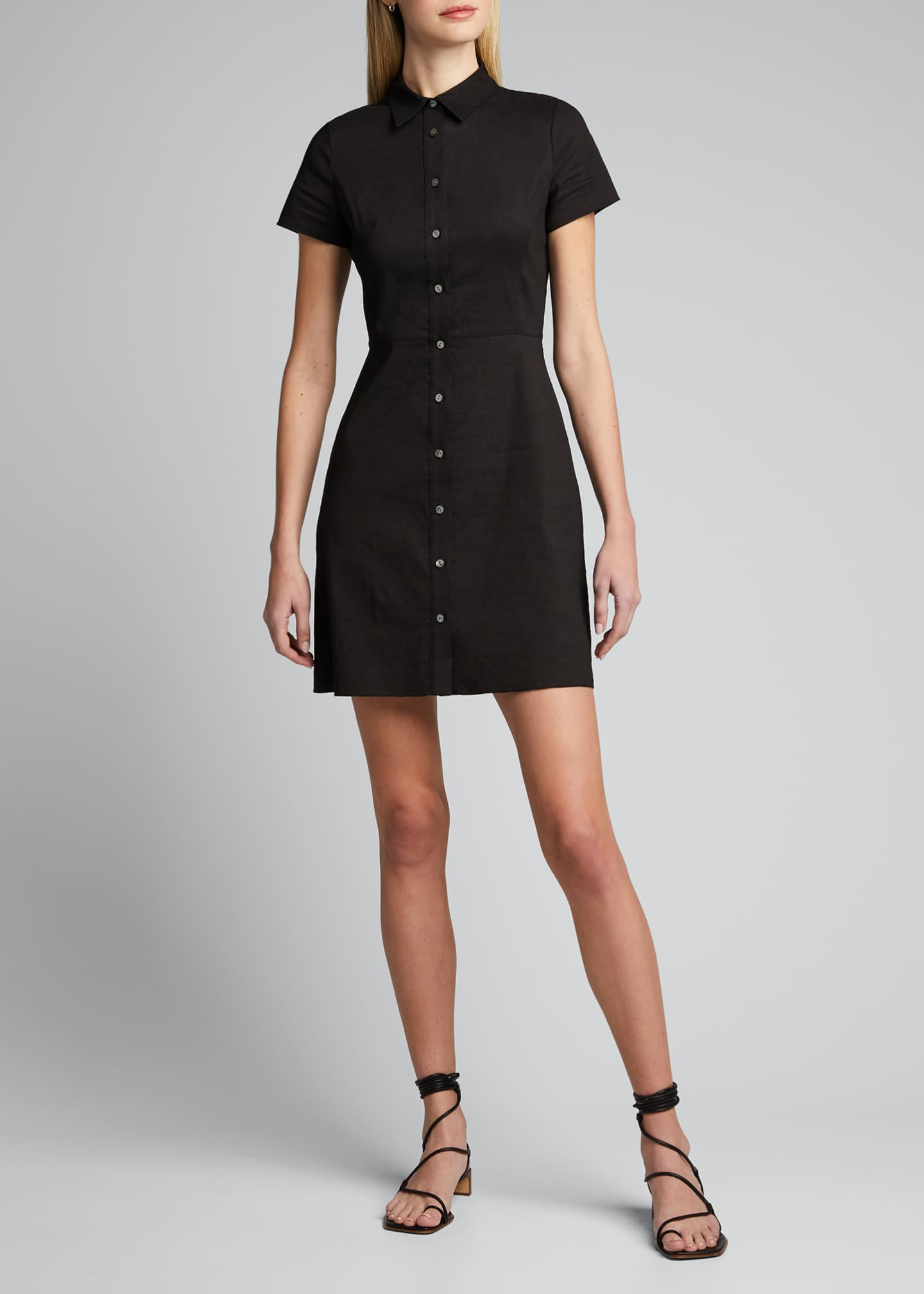 Image 4 of 5: Button-Down Short-Sleeve Shirtdress