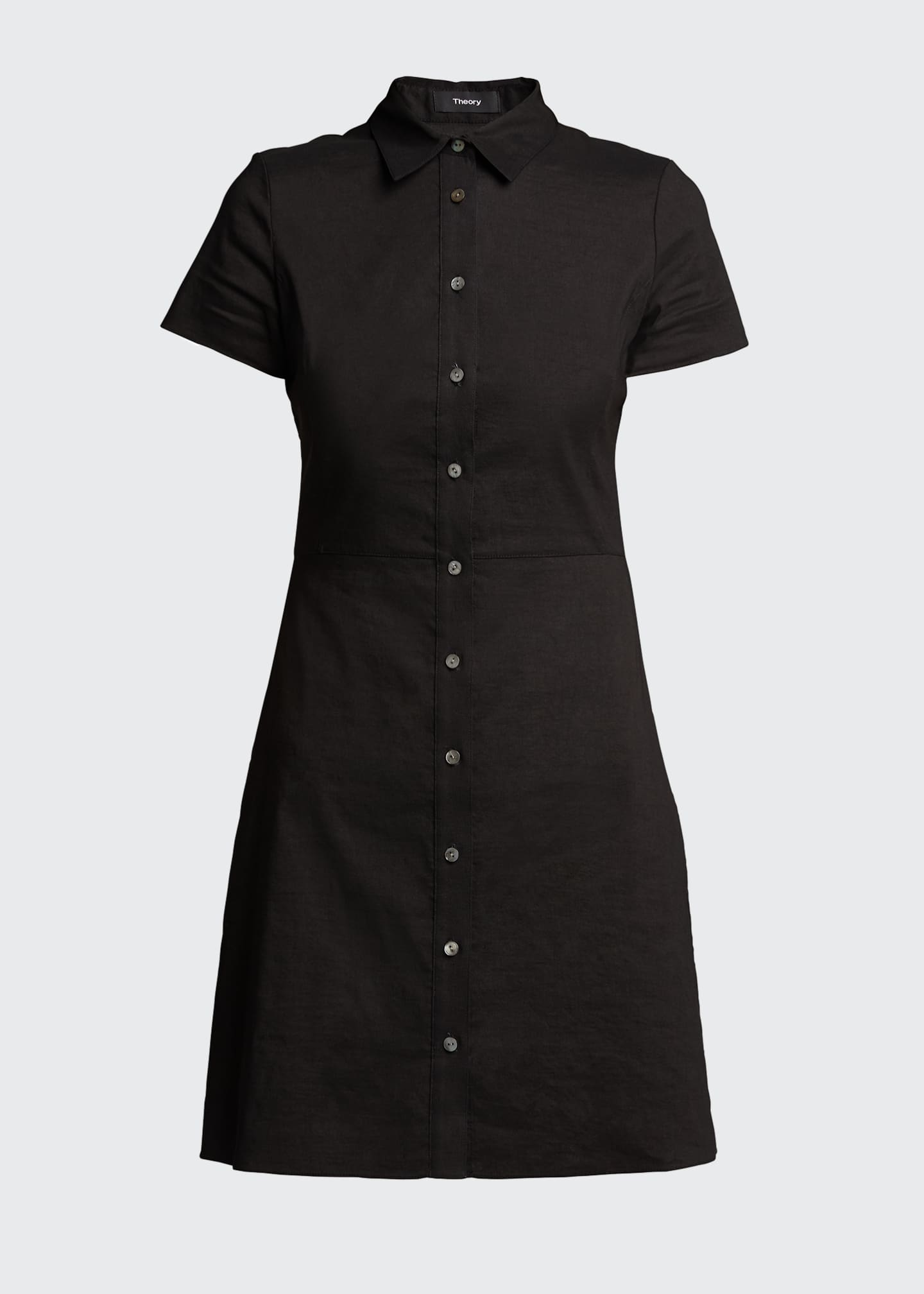 Image 5 of 5: Button-Down Short-Sleeve Shirtdress