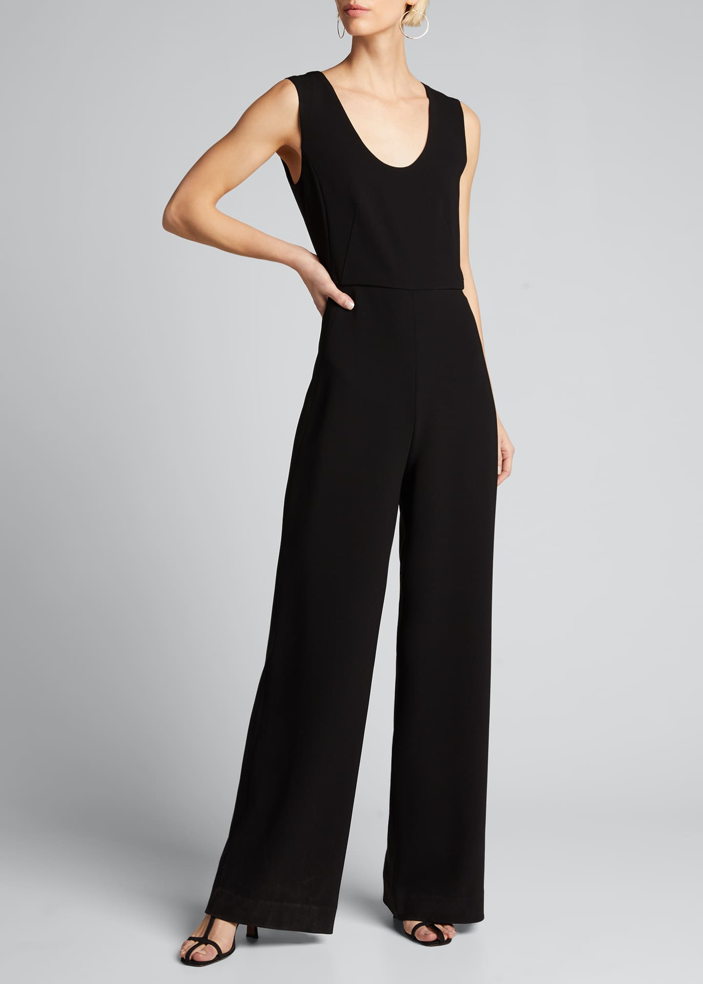 Image 3 of 5: Seamed Scoop-Neck Jumpsuit