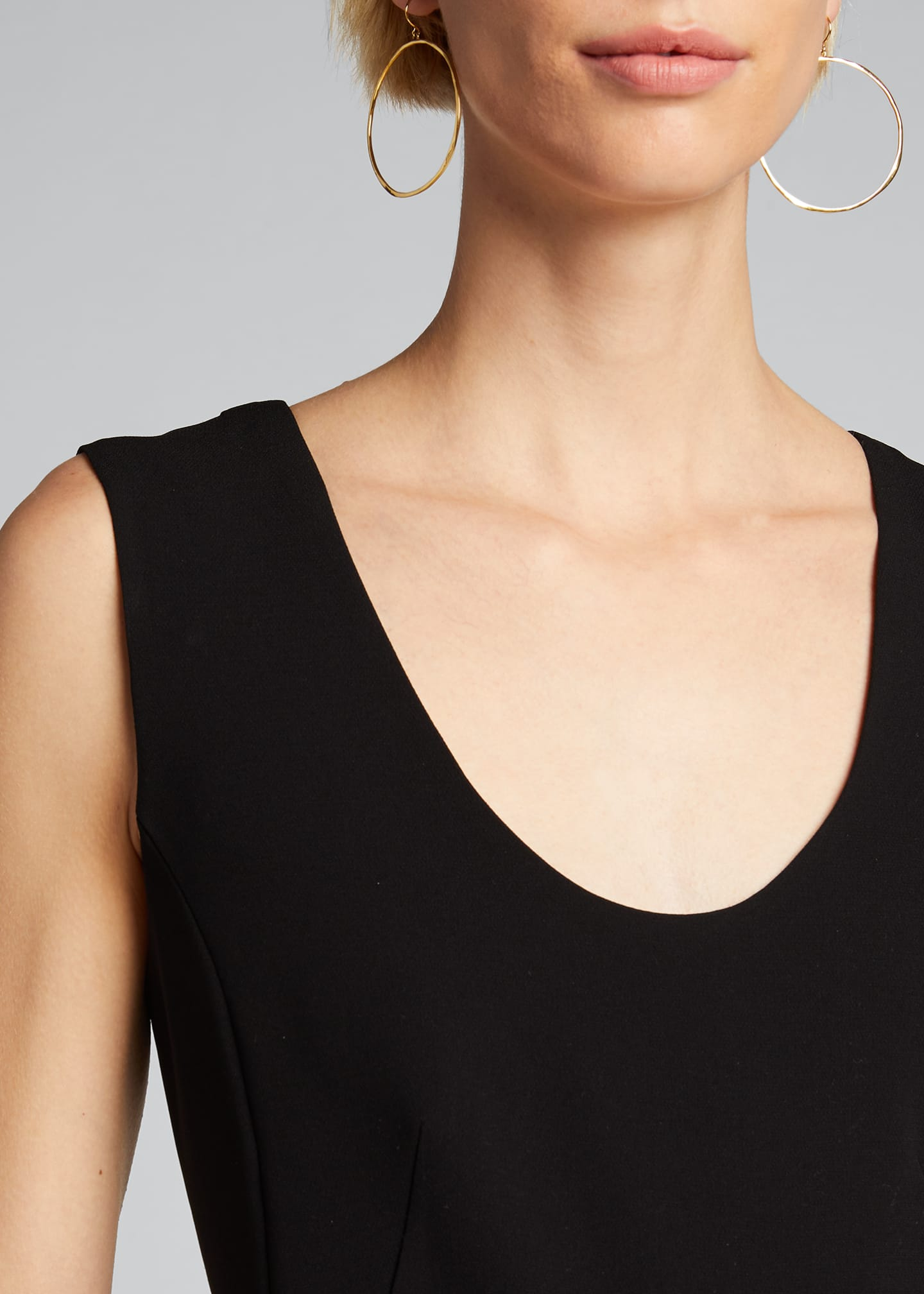 Image 4 of 5: Seamed Scoop-Neck Jumpsuit