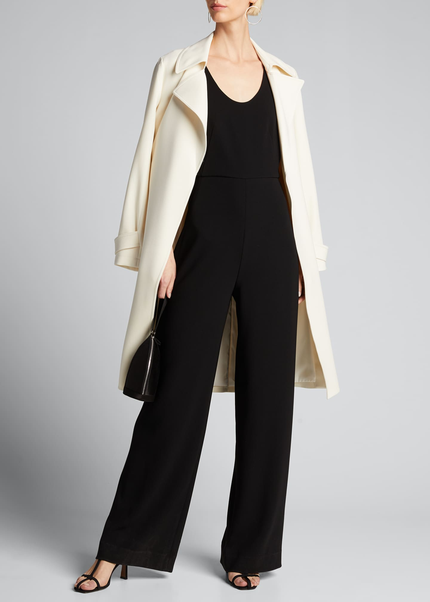 Image 1 of 5: Seamed Scoop-Neck Jumpsuit