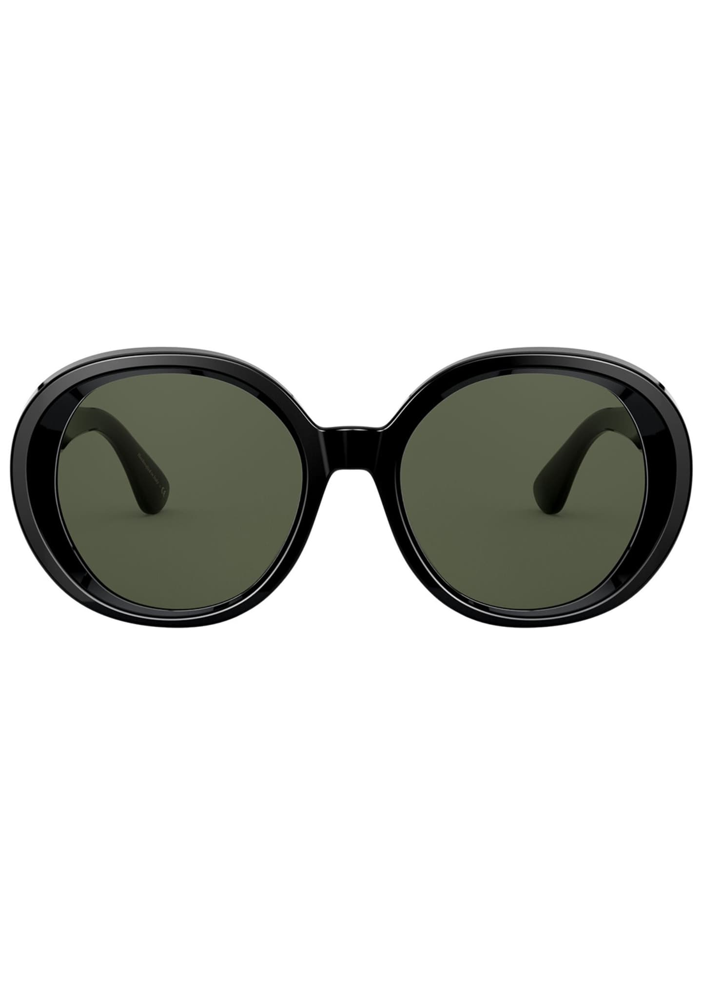 Image 2 of 2: Leidy Round Acetate Sunglasses