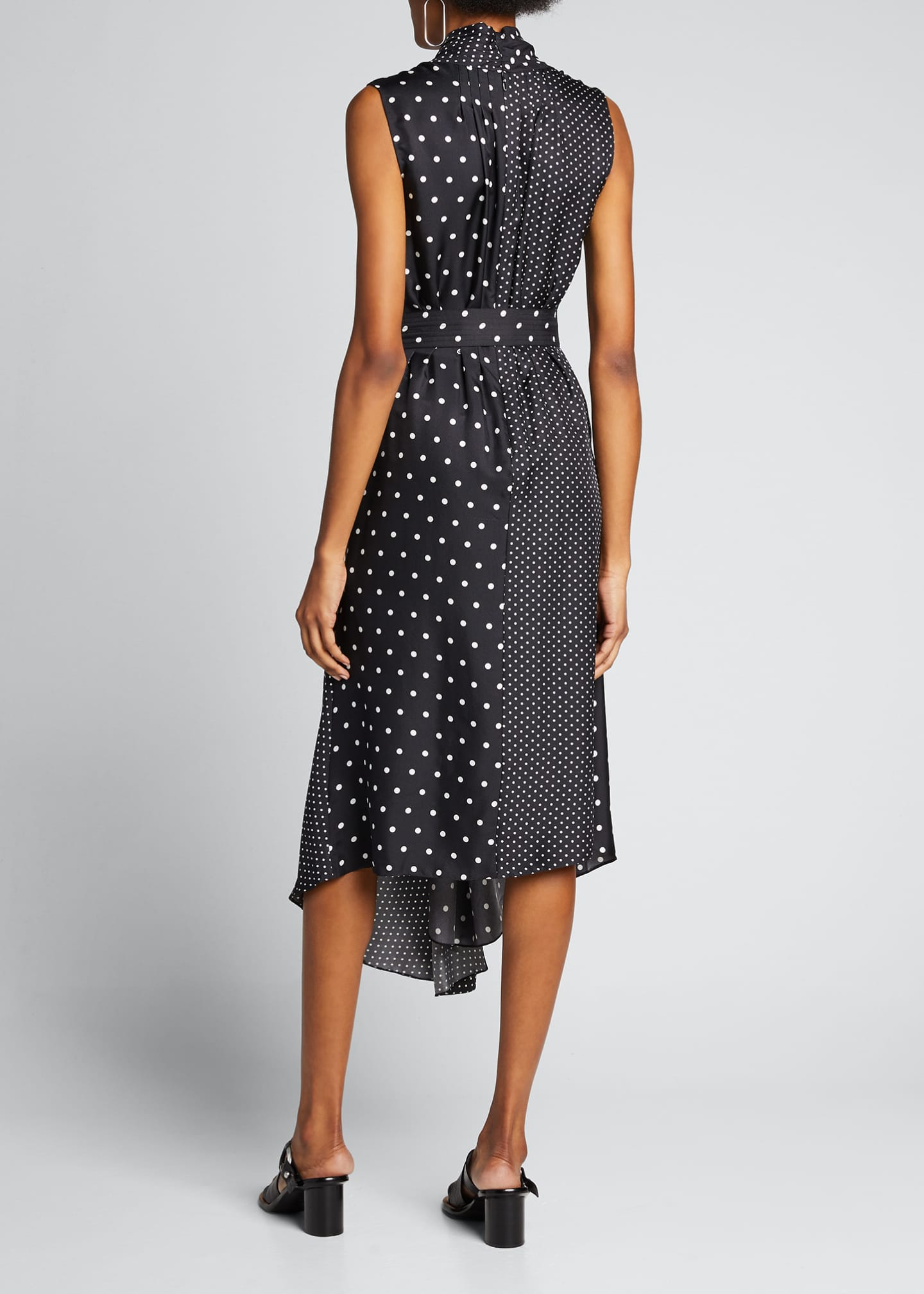 Image 2 of 5: Asymmetric Polka-Dotted Dress